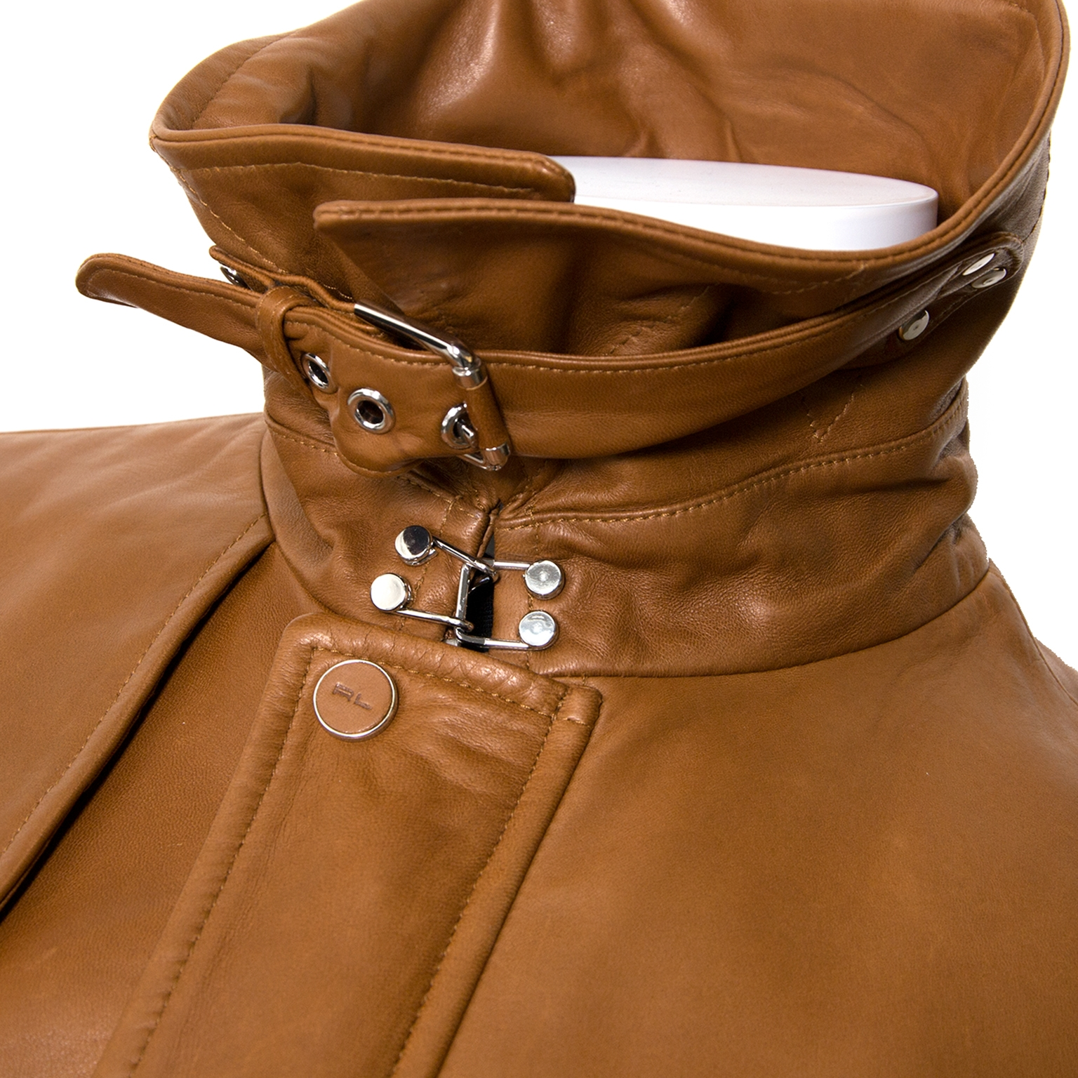 buy Ralph Lauren Cognac Leather Jacket - Size 14 at labellov for the best price