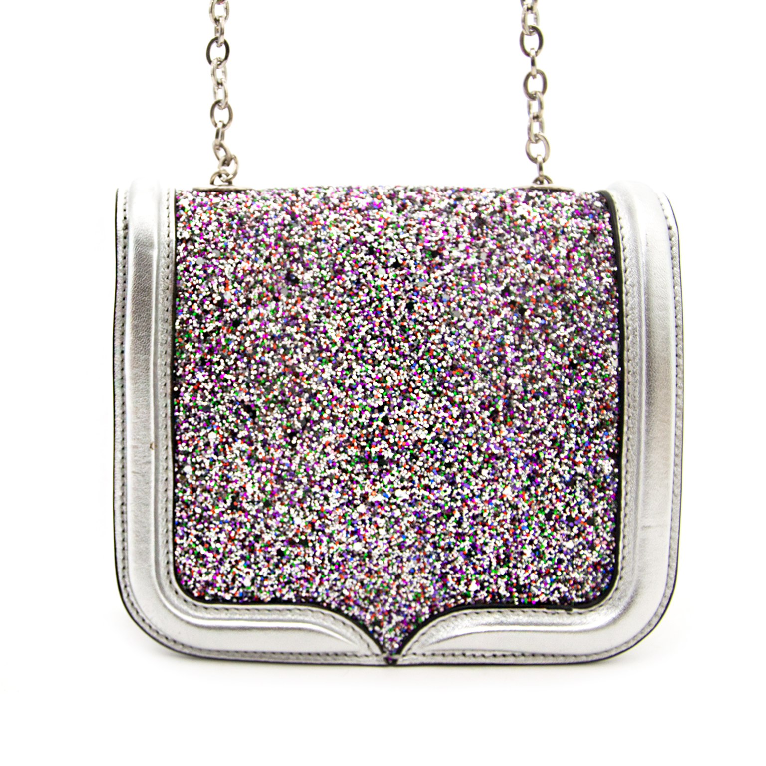 Shop safe online aan de beste prijs Alexander McQueen Multi Color Glitter Mini Heroine Bag