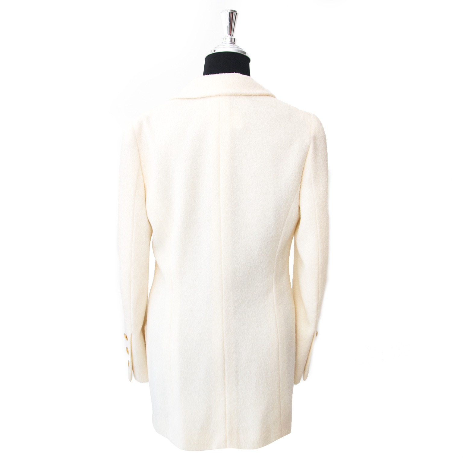 We are selling a 100% authentic Chanel Beige Woolen Blazer