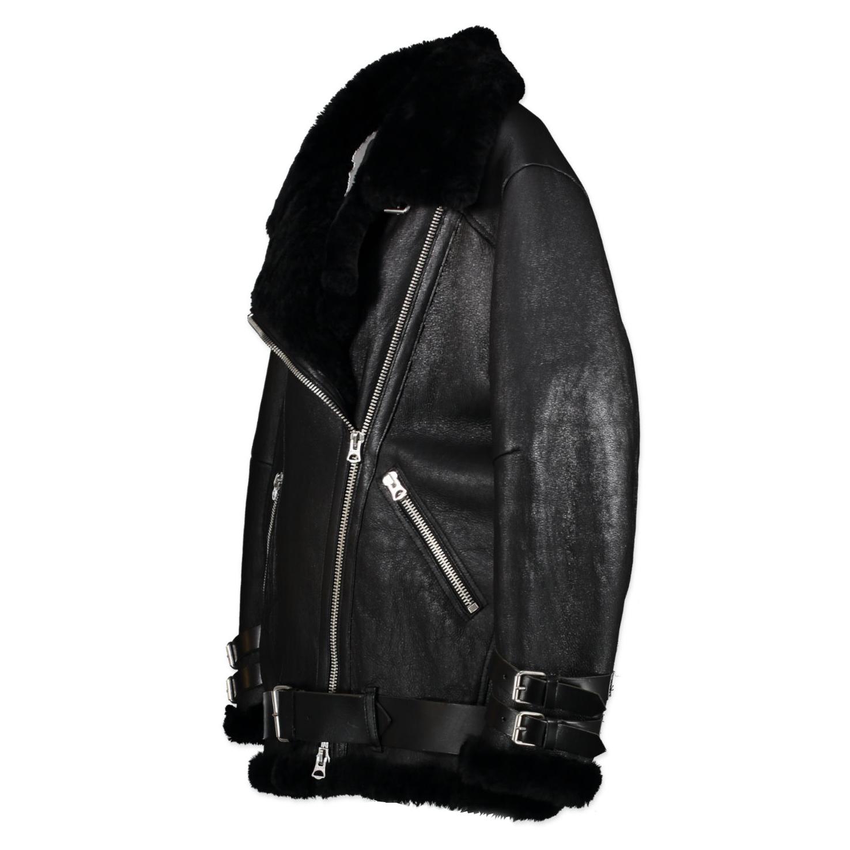 Acne Studios Velocite Leather/Shearling Aviator Jacket - Size 36 pour le meilleur prix chez Labellov à Anvers