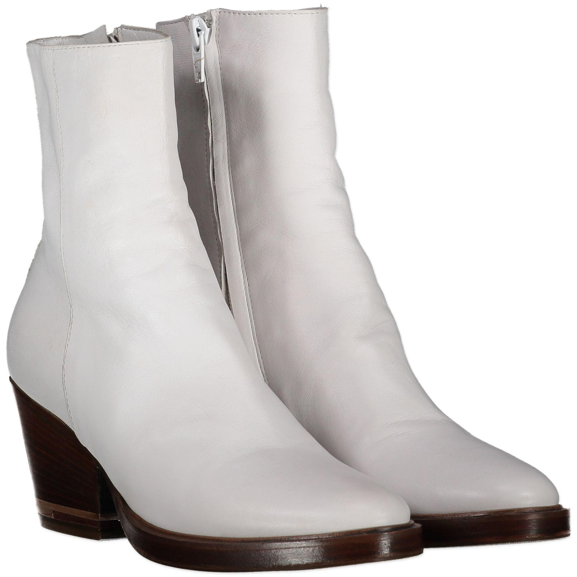 AF Vandevorst White Boots - Size 35,5