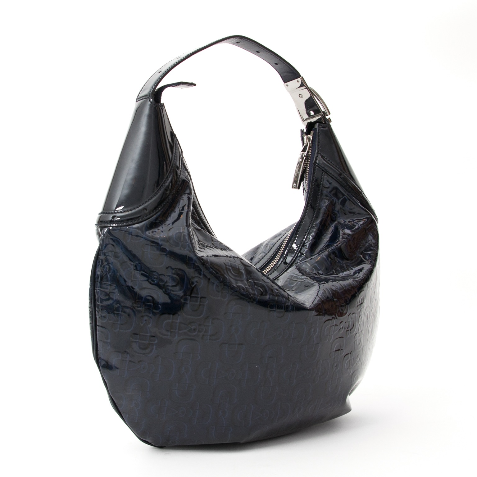 Gucci Navy Horsebit Embossed Patent Leather Glam Hobo Handbag, Labellov offers a wide selection of new and preloved luxury handbag. Visit the platform for a safe and secure shopping experience