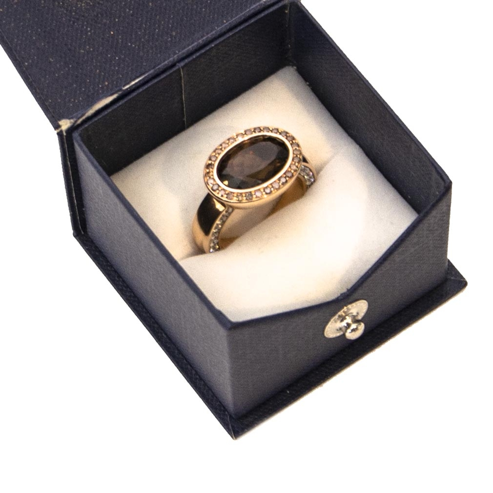 shop safe online secondhand Al Coro Gold Mezzaluna Ring