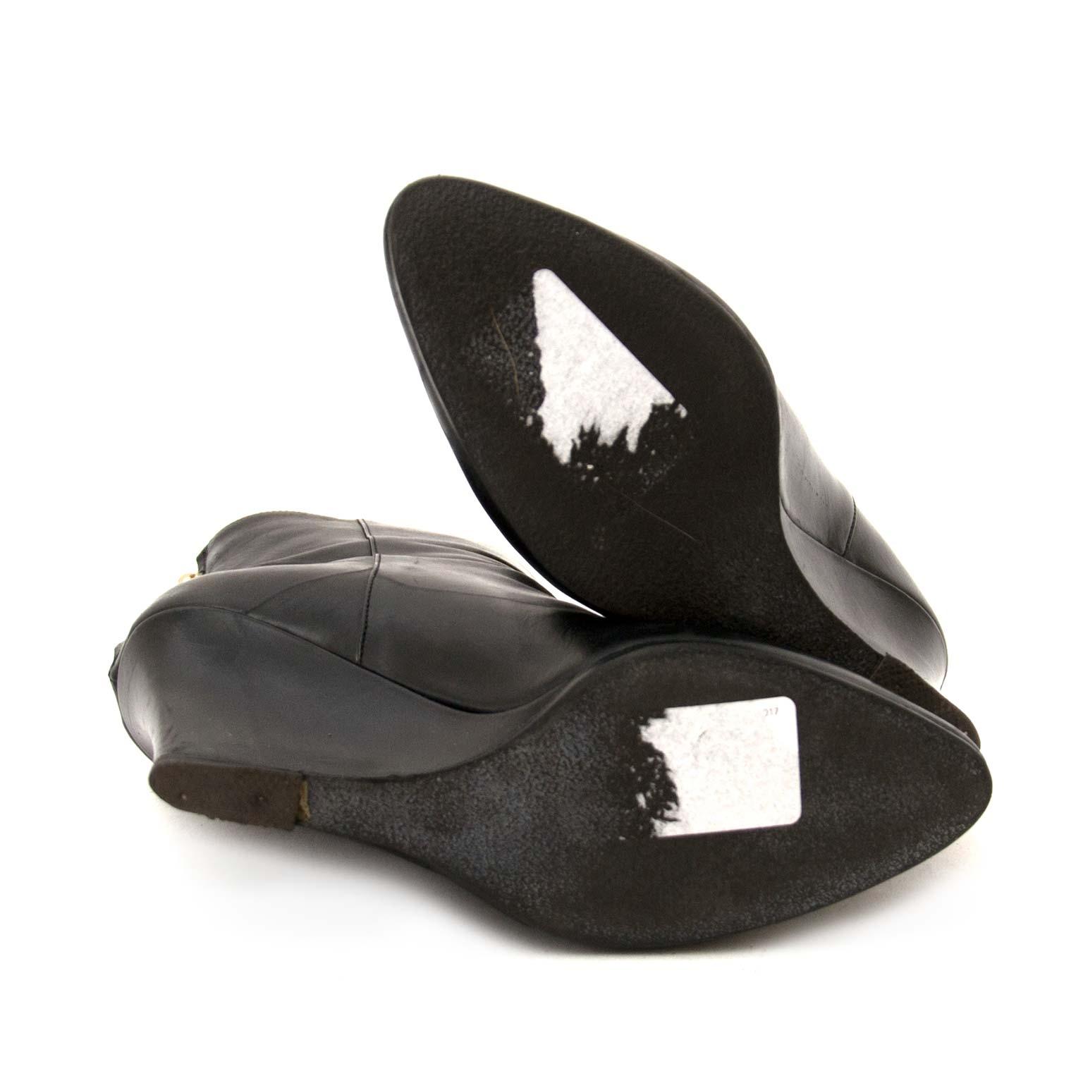 Alaia Black Embroid Boots - Size 37 online tweedehands aan de beste prijs