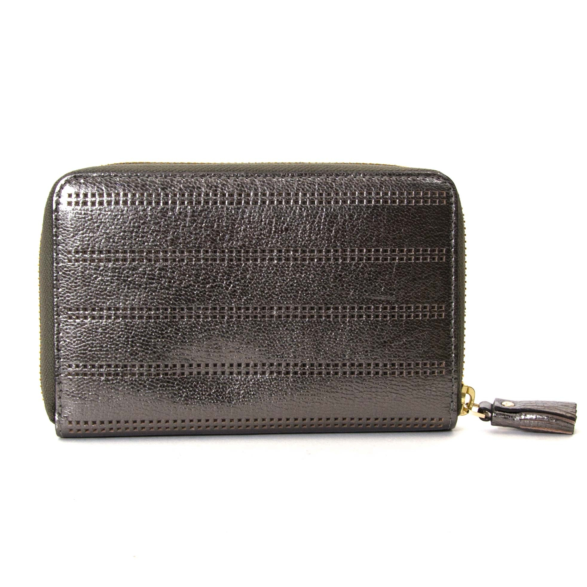 anya hindmarch metallic wallet now for sale at labellov vintage fashion webshop belgium