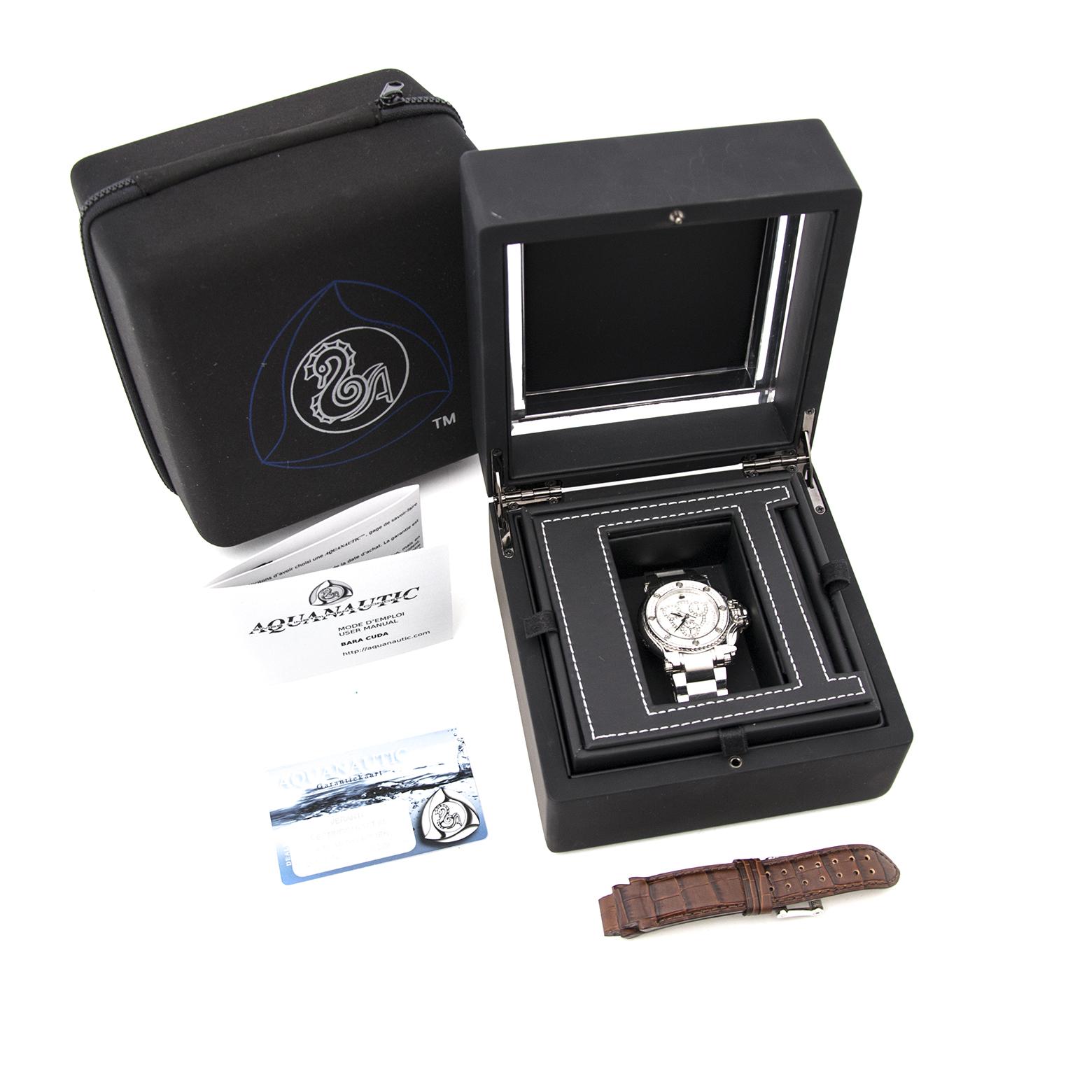 Aquanautic Bara Cuda Diamond Watch full set available online at Labellov