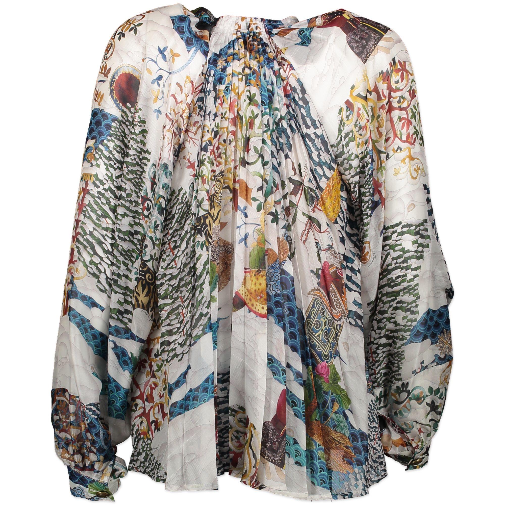 Gucci 100% Silk Printed Blouse