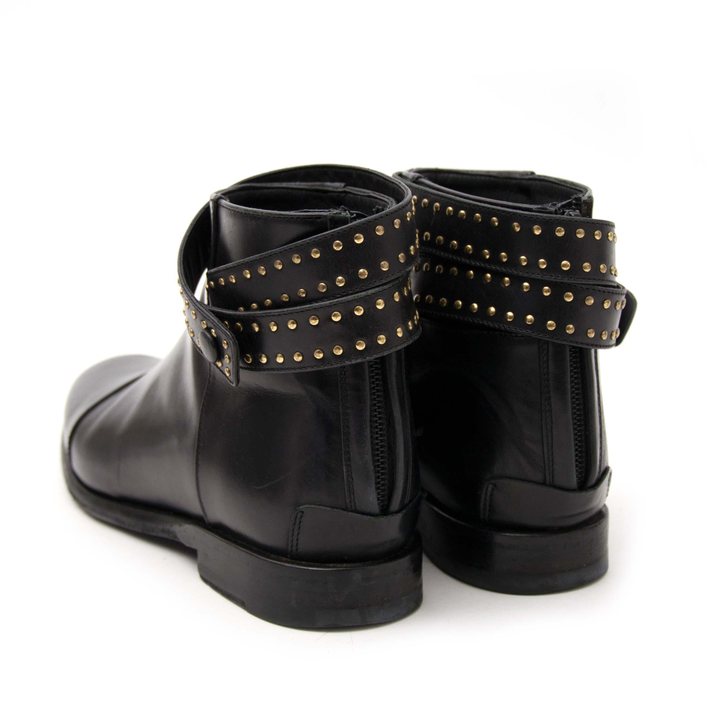 Balenciaga Black Studded Ankle Strap Boots  veilig online tegen de beste prijs