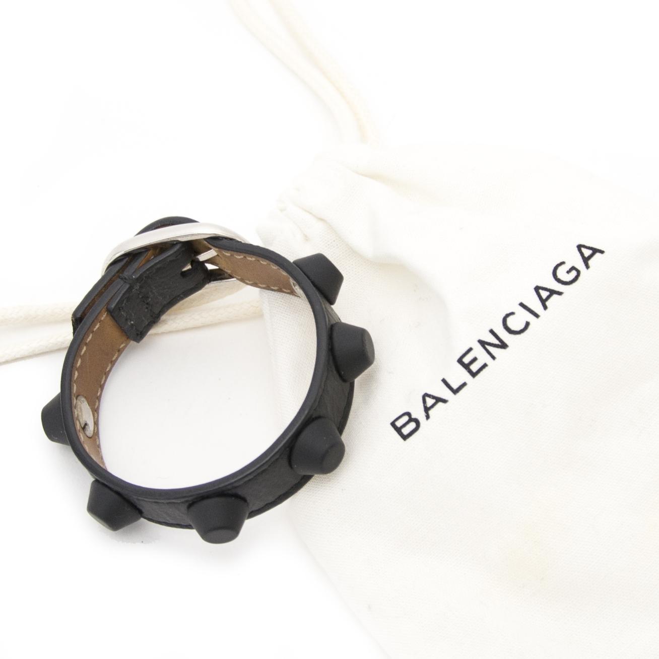 shop safe online seocndhand Balenciaga Black Studded Bracelette
