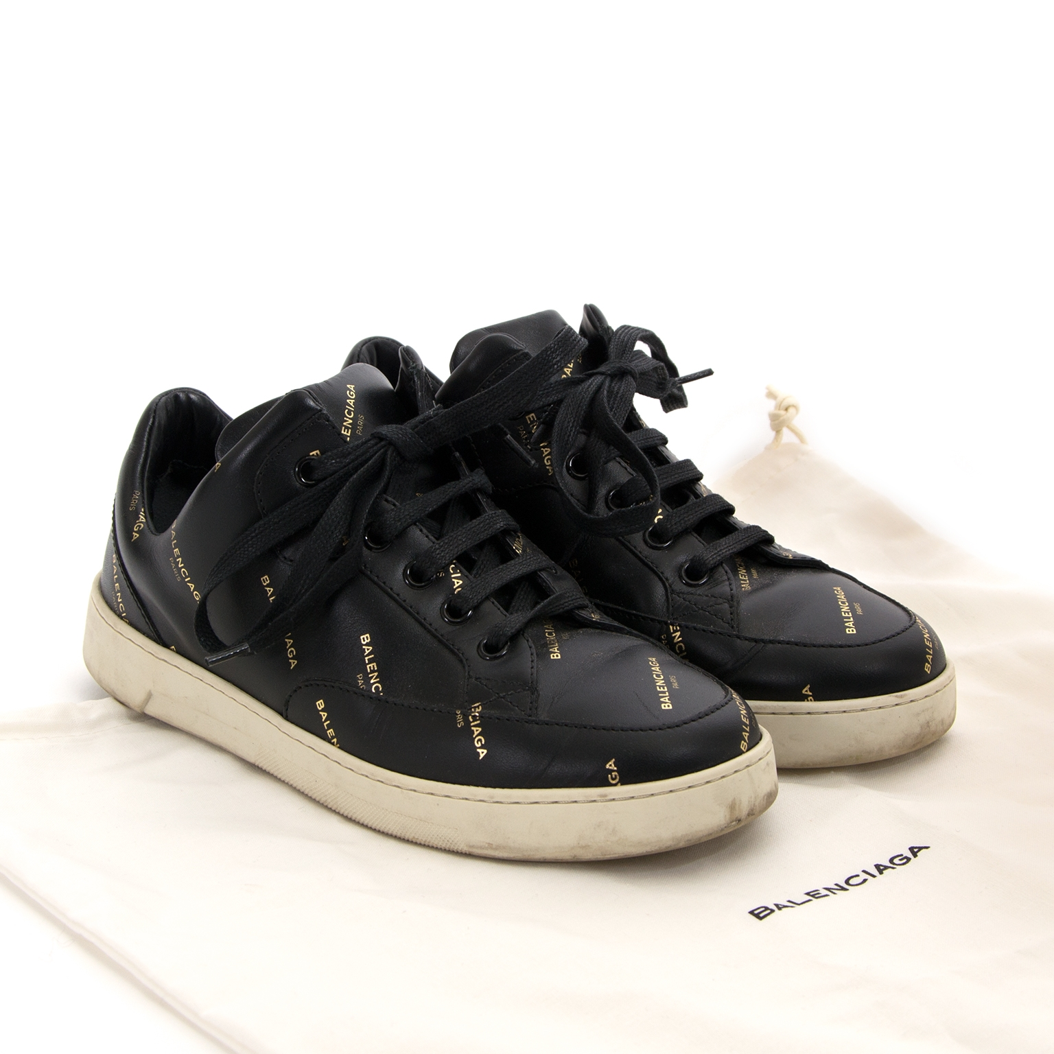 balenciaga black base trainers now for sale at labellov vintage fashion webshop belgium