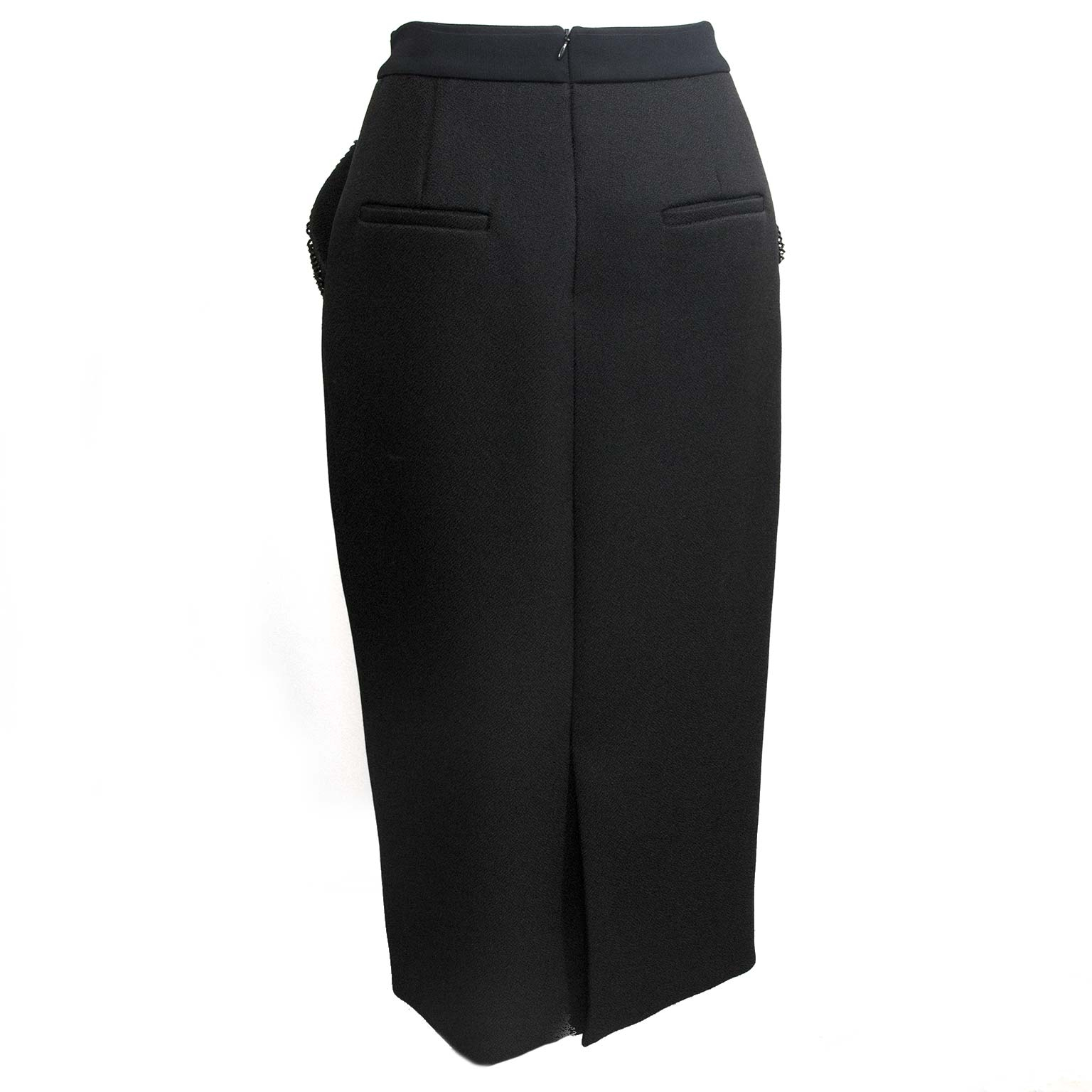balenciaga black pencil skirt now for sale at labellov vintage fashion webshop belgium
