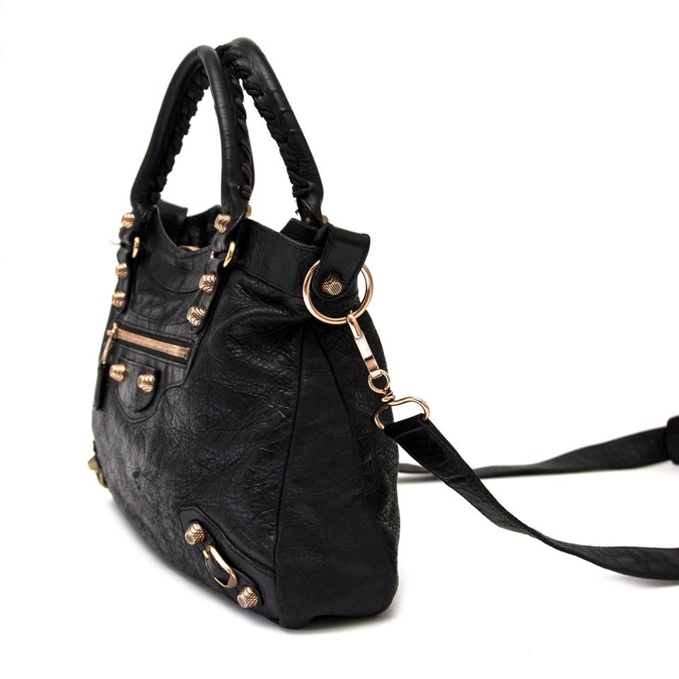 ... shop safe online secondhand designer Balenciaga Black Classic Town +  strap (Labellov d1fbe6e4f9354