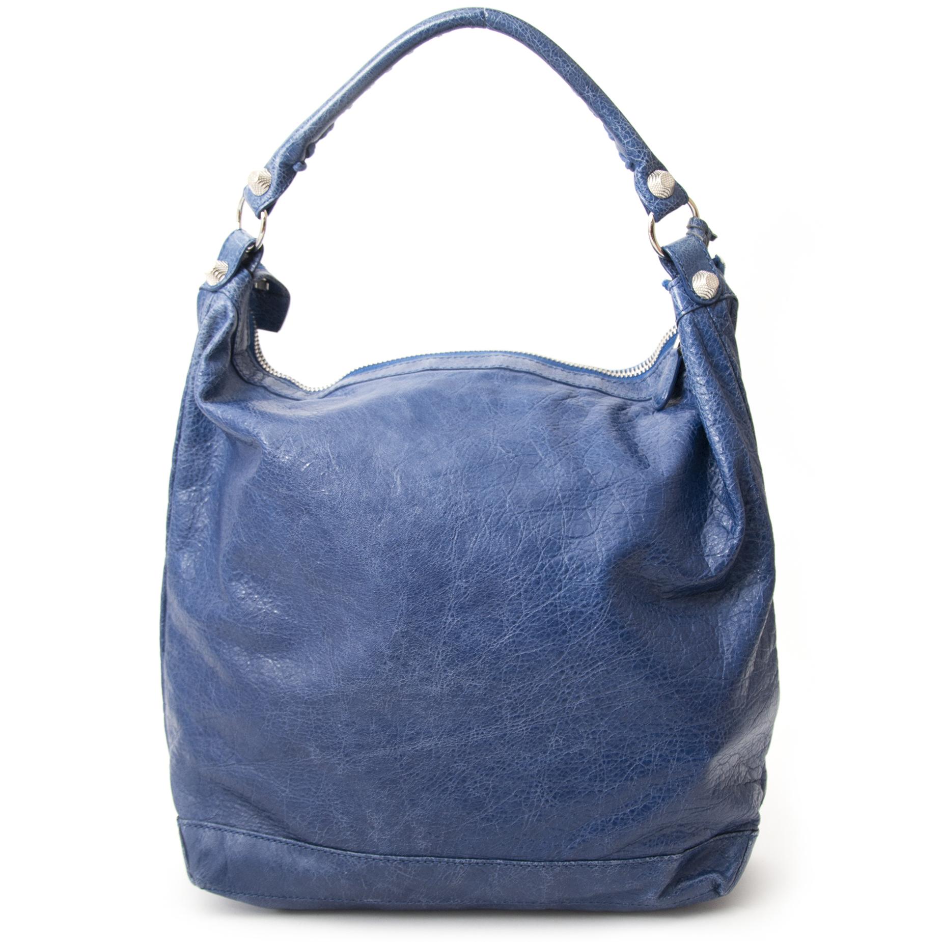 Bent u op zoek naar een authentieke Balenciaga Cobal Blue Giant Day Bag?