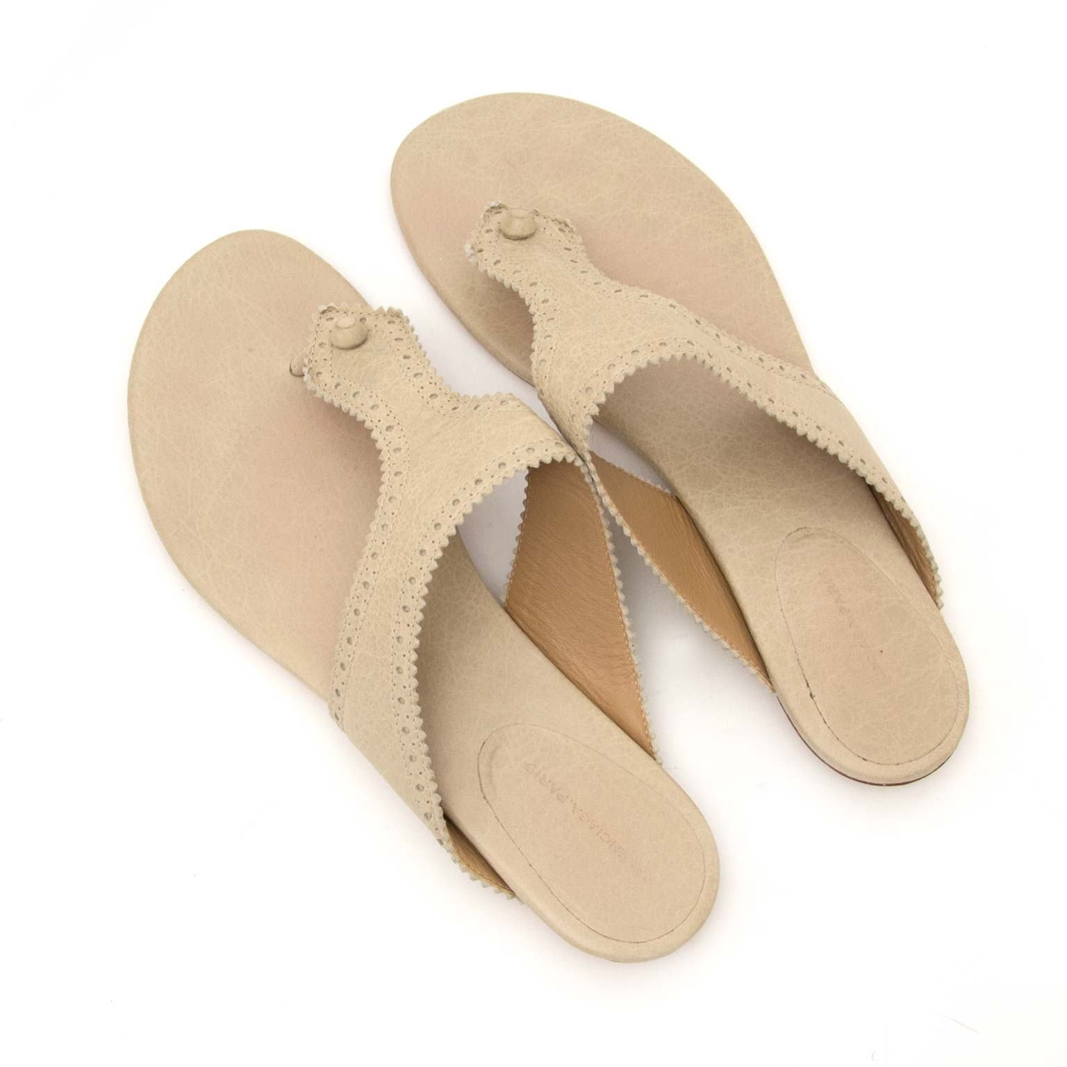 balenciaga beige slip-on sandals now for sale at labellov vintage fashion webshop belgium