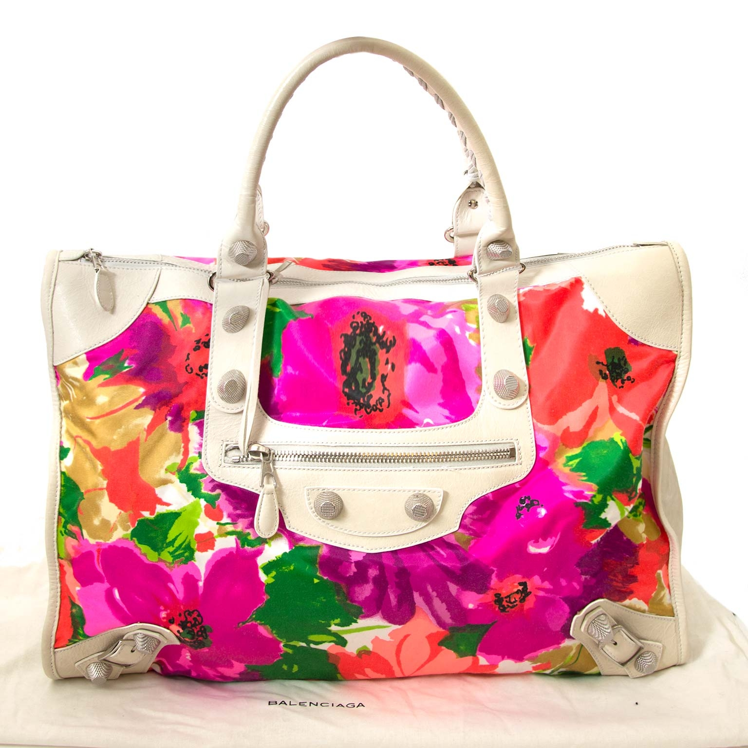koop balenciaga giant 21 extra-large bloemen city tas bij labellov vintage mode webshop