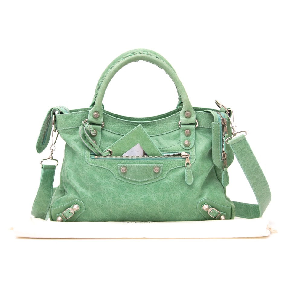 We buy and sell your Balenciaga Town Seafoam Green Shoulder Bag for the best price
