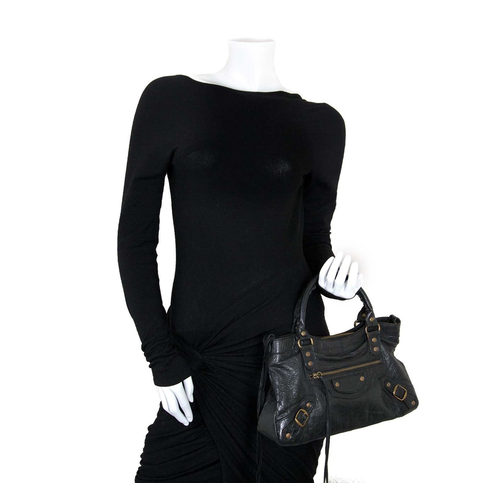 8421bec622878 ... balenciaga black classic first bag now for sale at labellov vintage  fashion webshop belgium