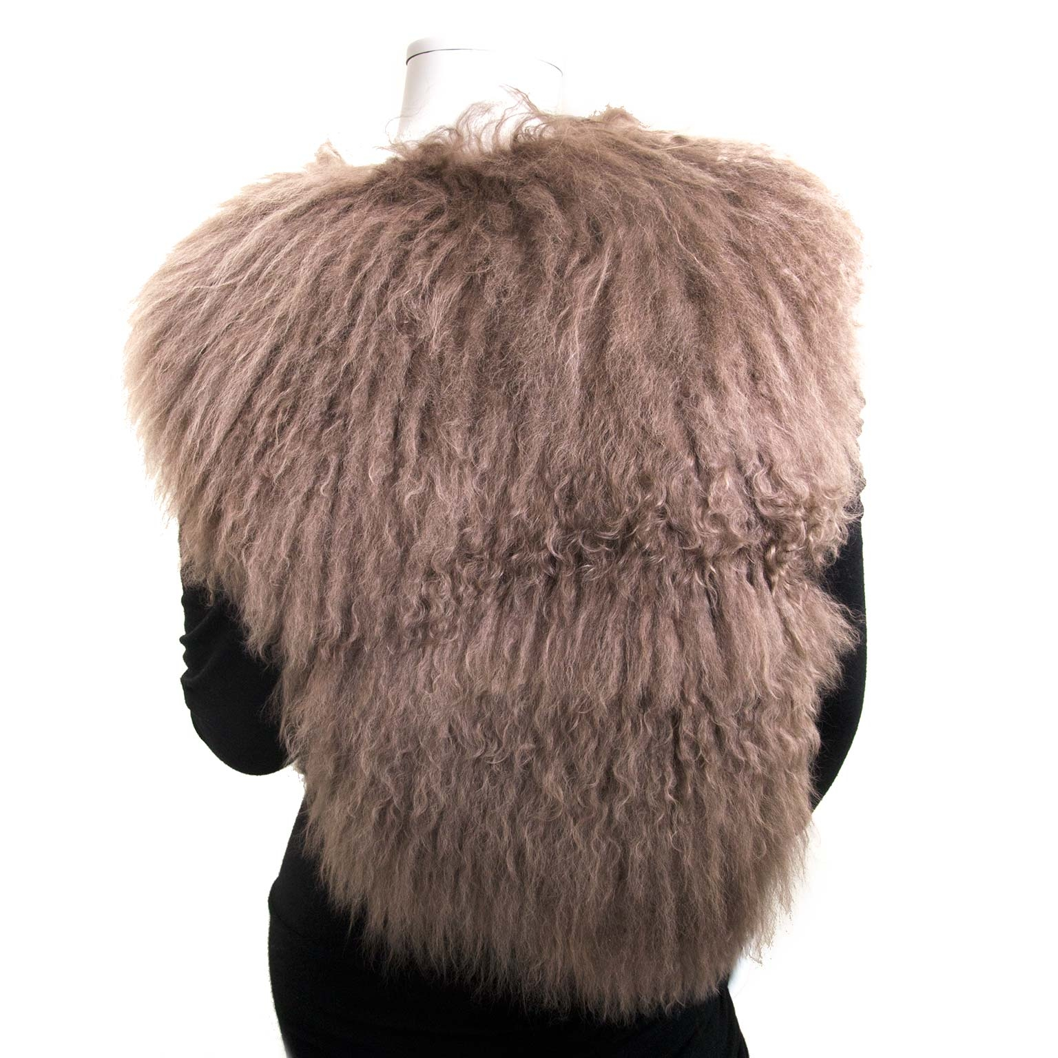 balenciaga mongolian sheep vest now for sale at labellov vintage fashion webshop belgium
