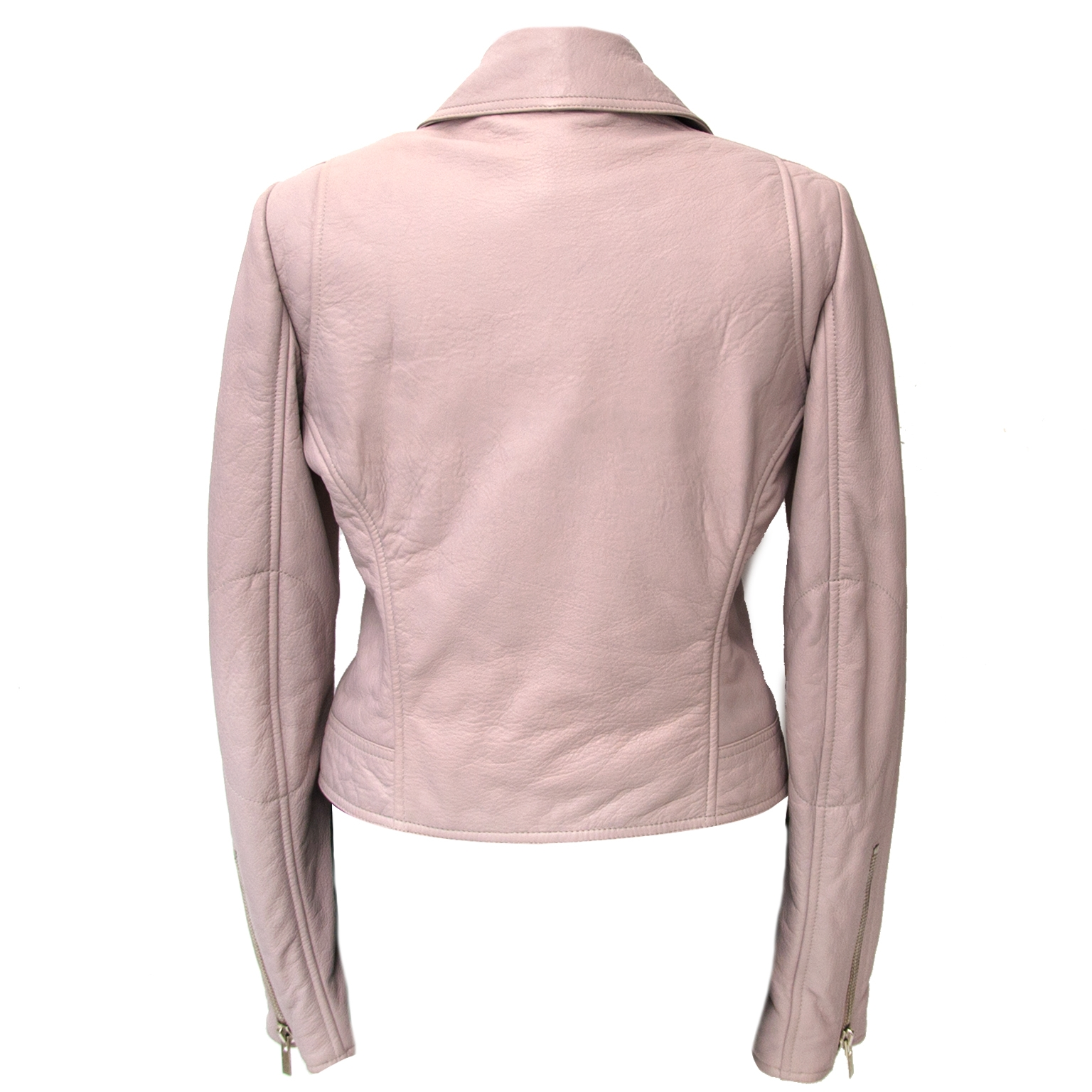 Balenciaga Pink Leather Jacket - Size 38