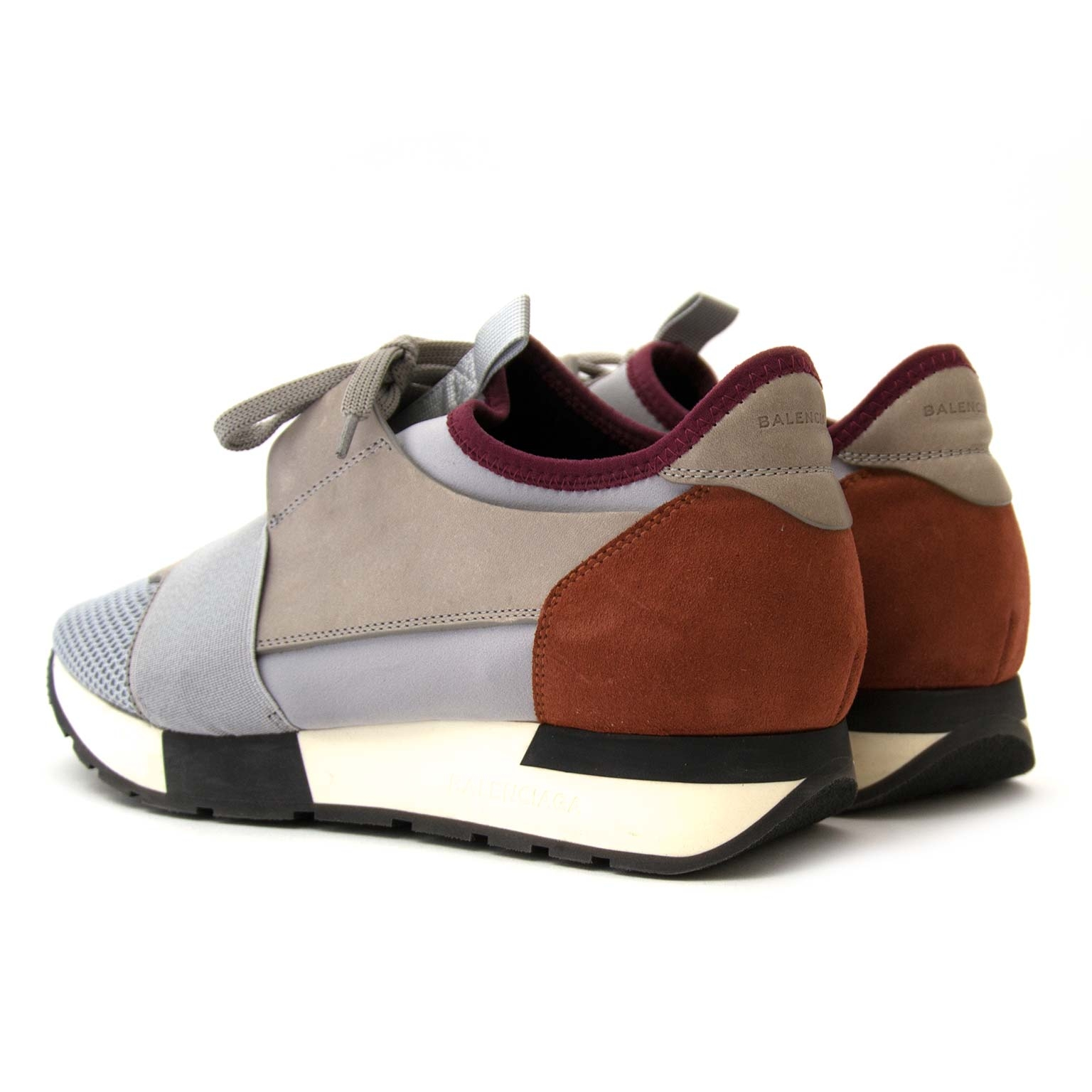 balenciaga race runner grey and orange now for sale at labellov vintage fashion webshop belgium