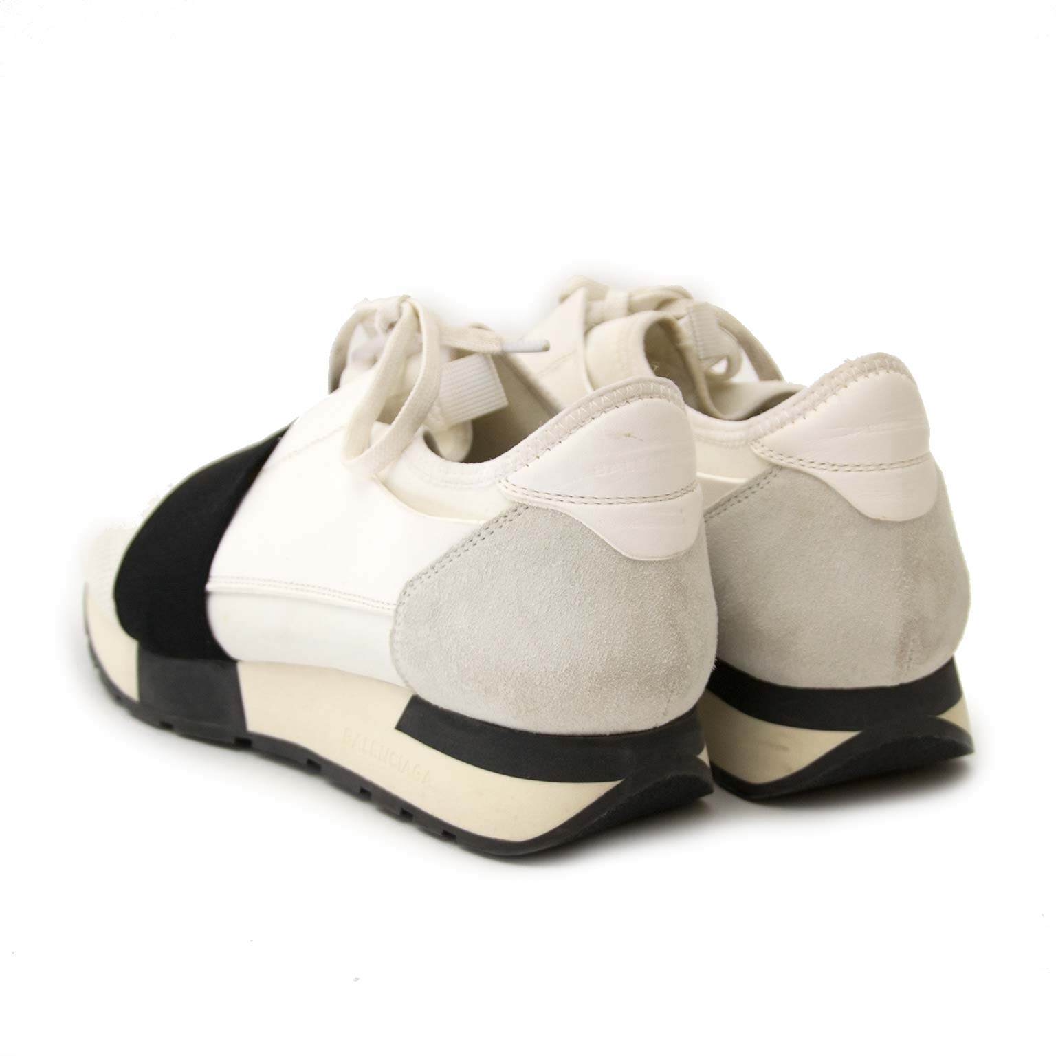 balenciaga race runners white and black now for sale at labellov vintage fashion webshop belgium