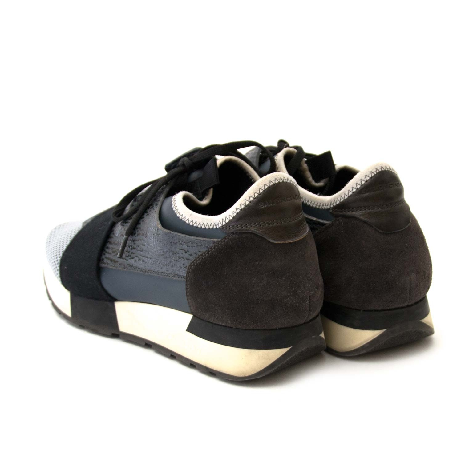 balenciaga race runners grey and black now for sale at labellov vintage fashion webshop belgium