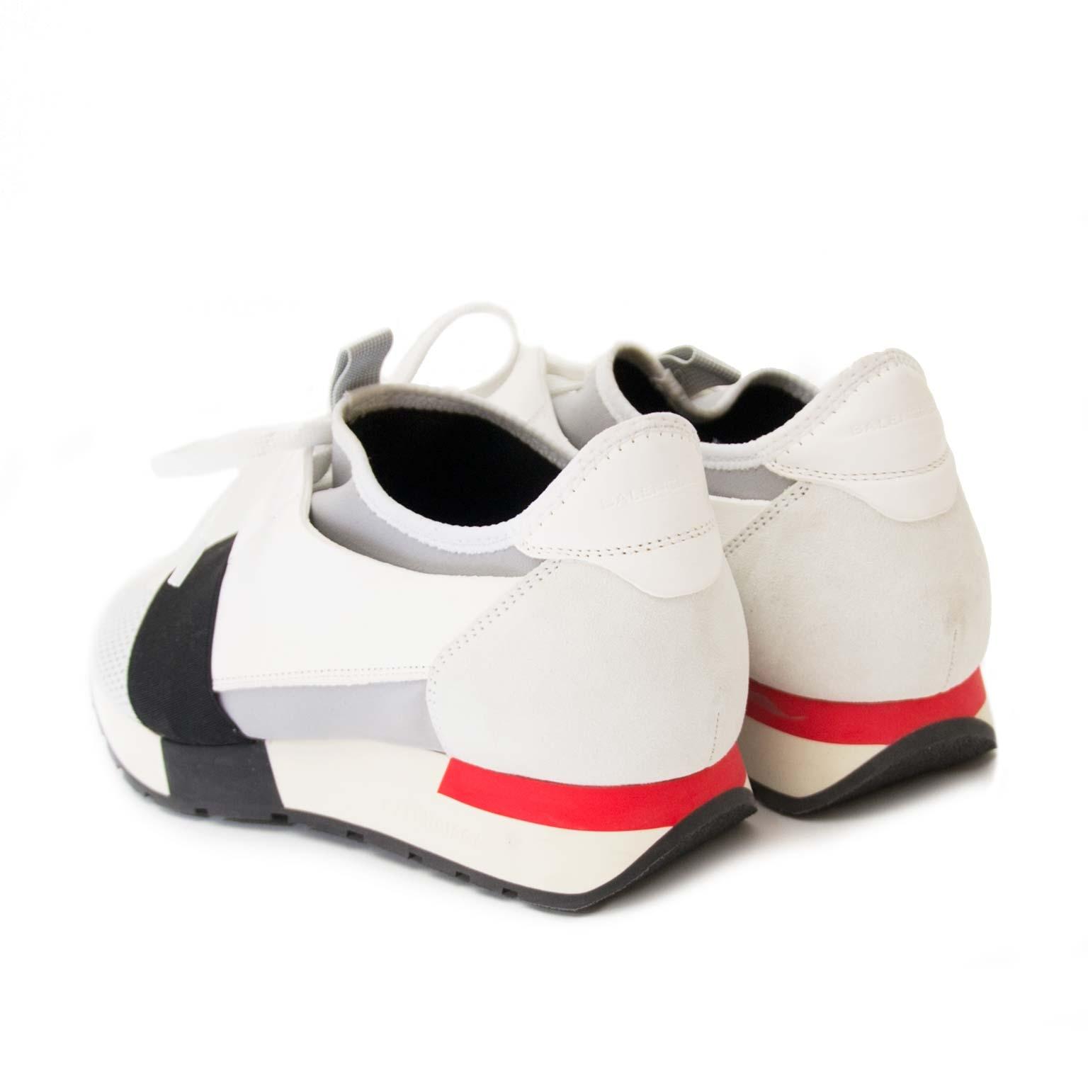 balenciaga race runner white now for sale at labellov vintage fashion webshop belgium