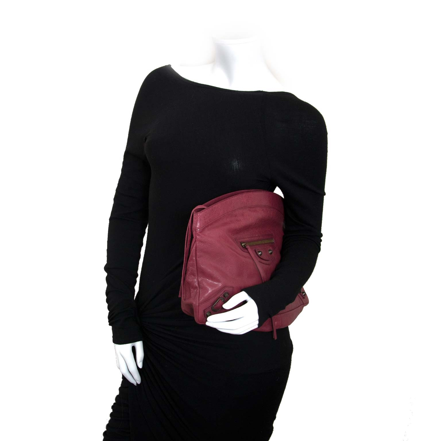 Bent u op zoek naar een authentieke Balenciaga Red Leather Flat Clutch ?