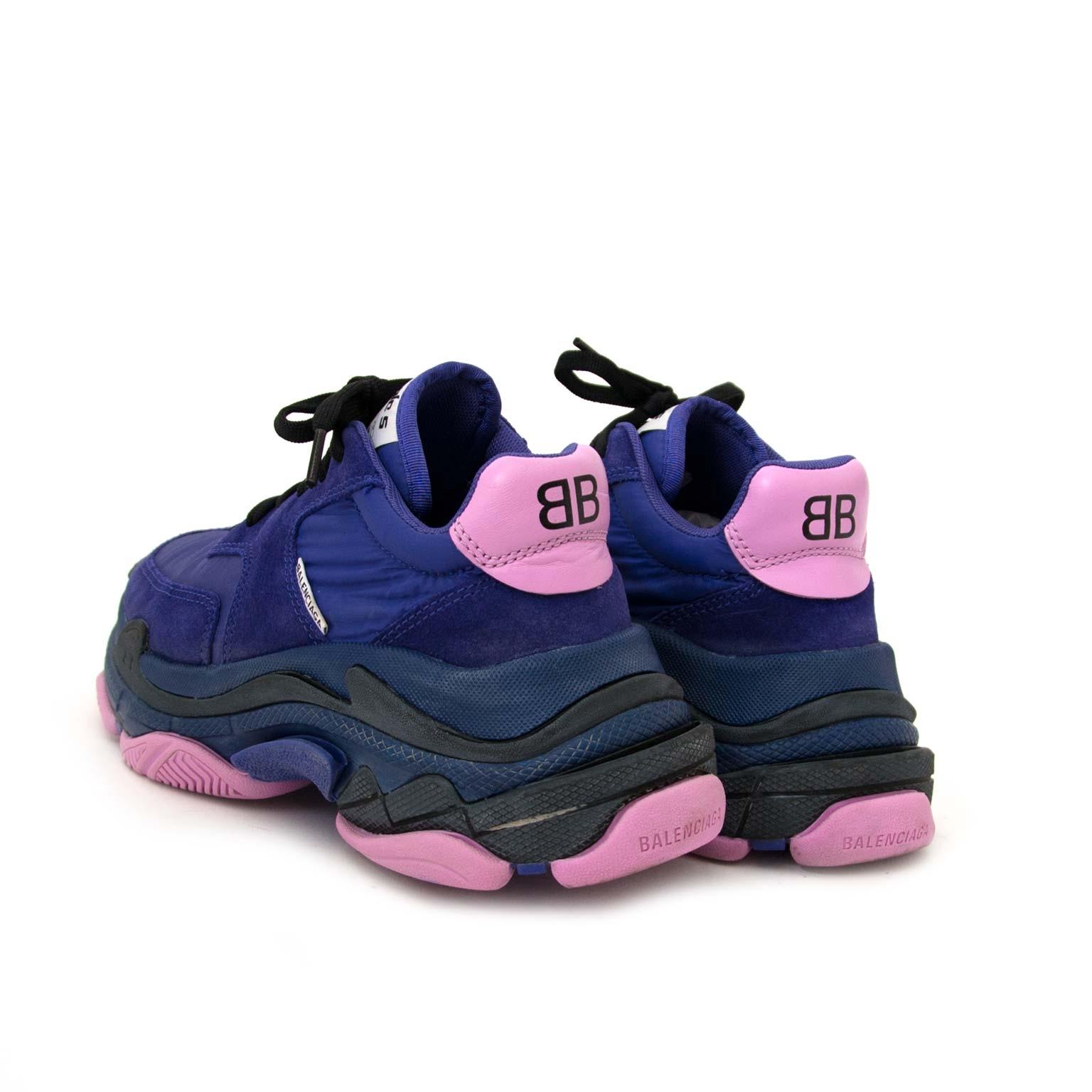 Balenciaga Purple & Pink Triple S Sneakers for sale