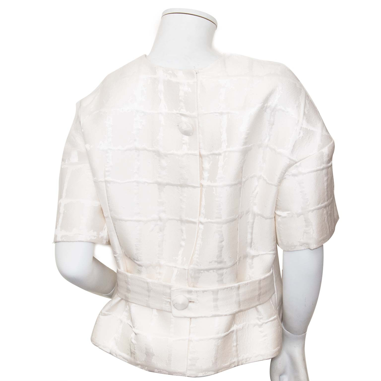 Buy your authentic Balmain Short Sleeve White Belted Blazer