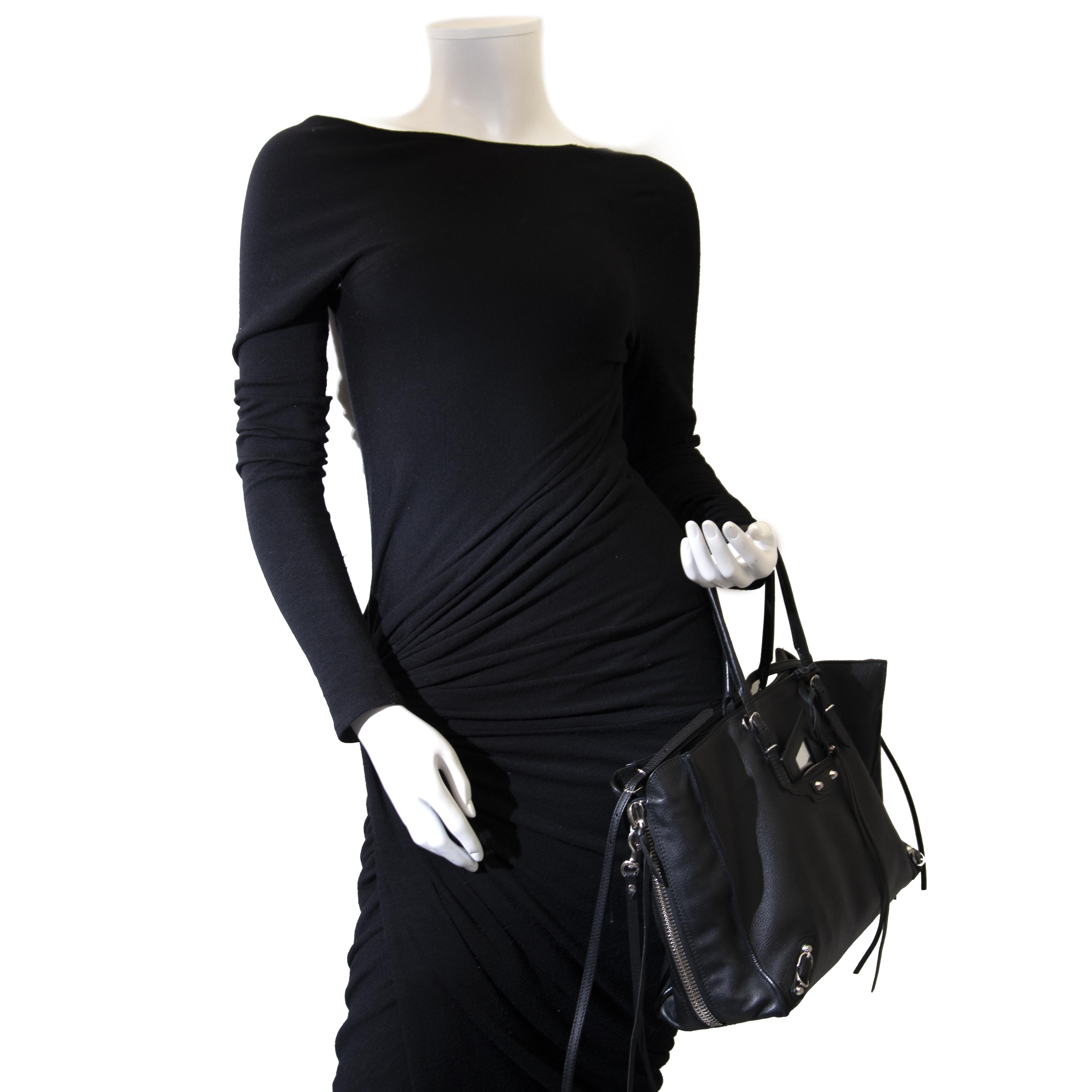 Balenciaga Black Papier B4 Zip Around Tote Bag for the best price at Labellov secondhand luxury