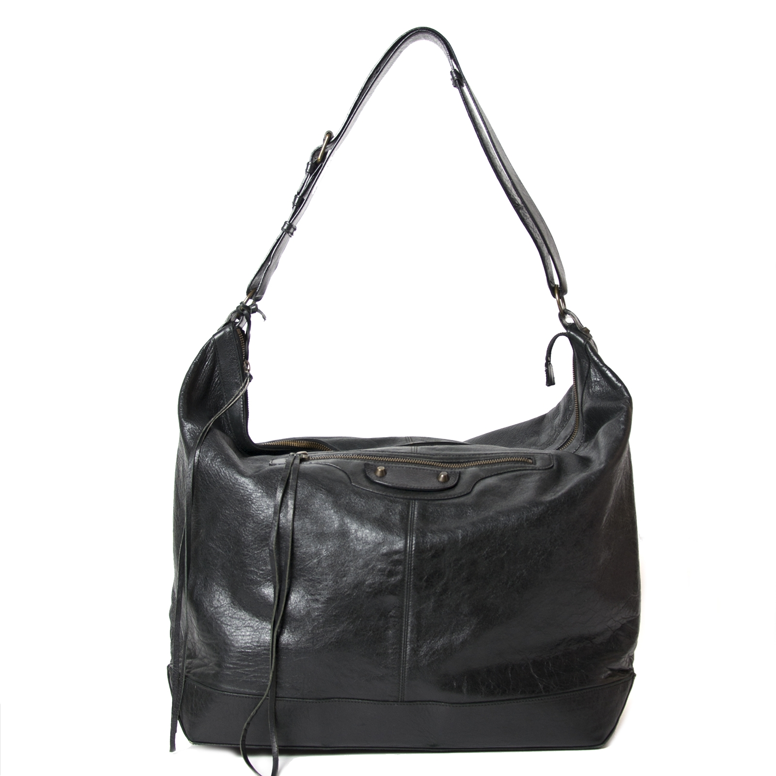 Buy your authentic Balenciaga Black Courier Bag for the best price at Labellov kopen en verkopen