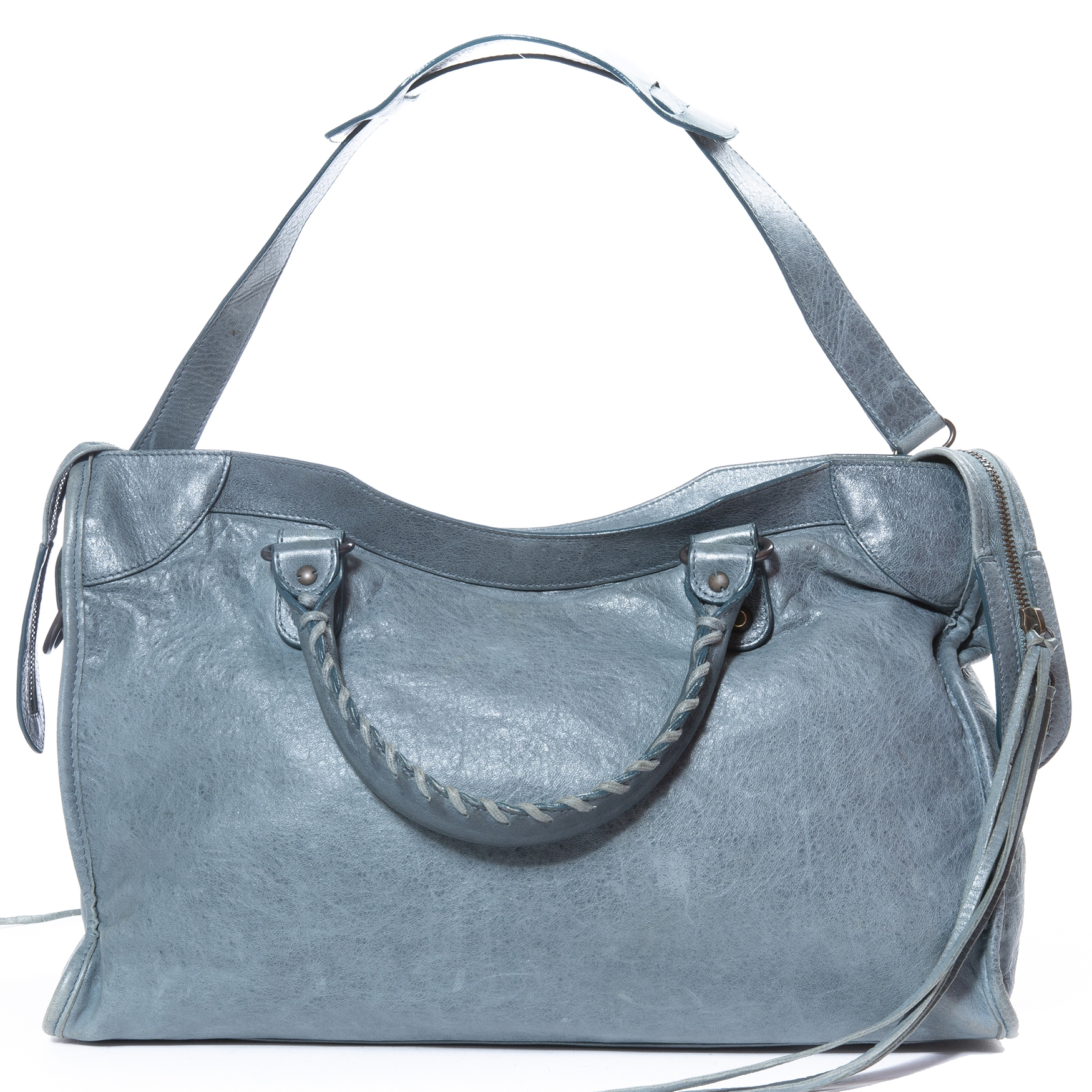 achetez Balenciaga Blue Glacier Classic City Bag  chez labellov