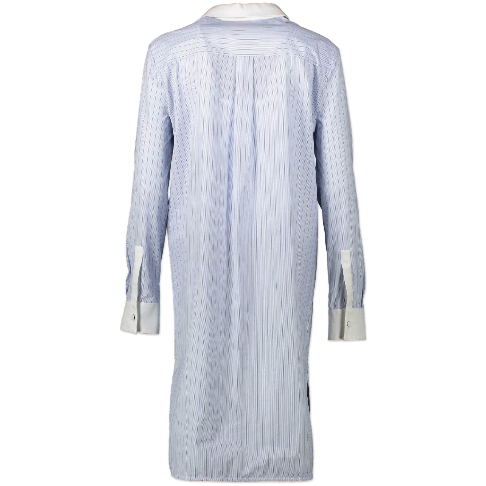 Balenciaga Blue Striped Shirt Dress