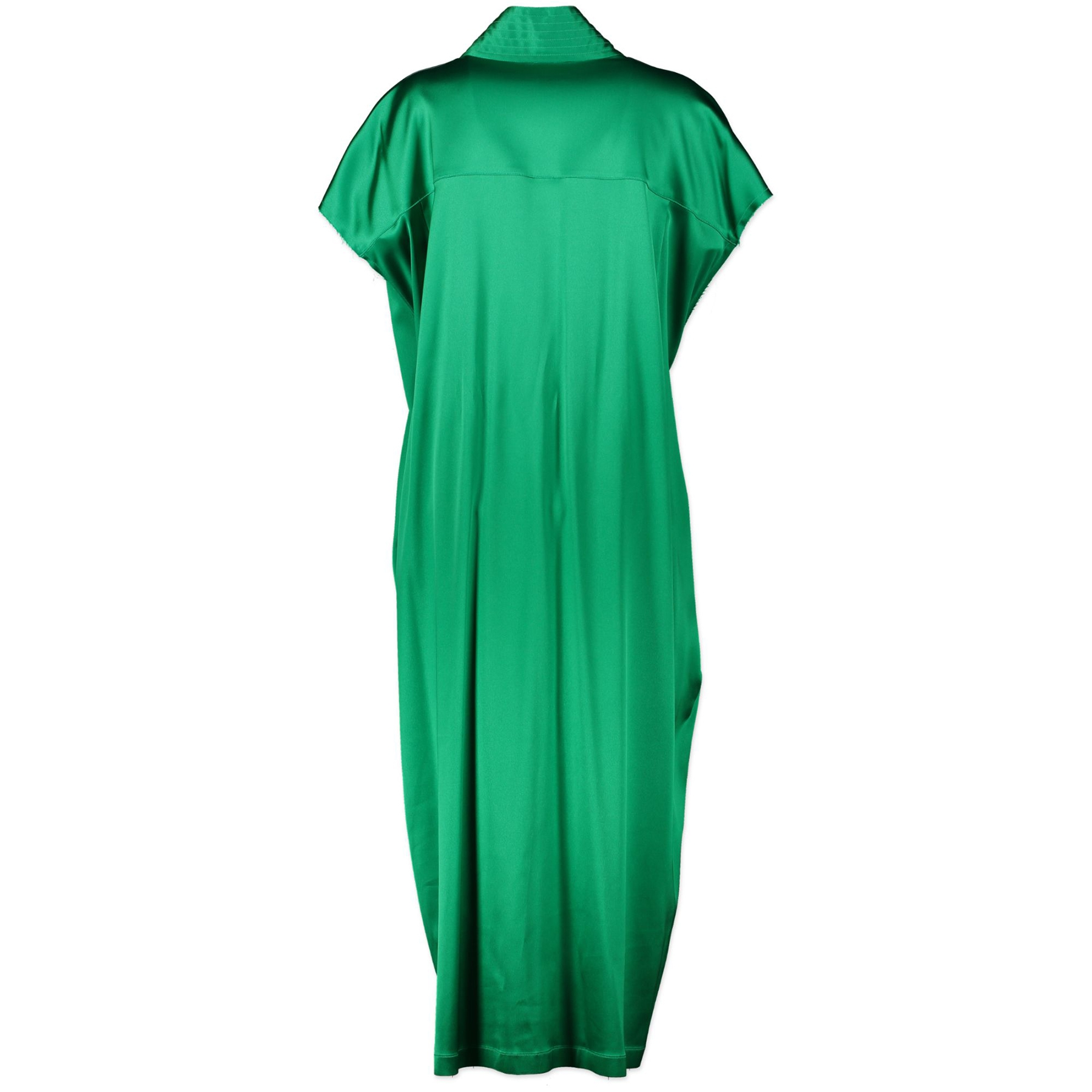 Buy Authentic Balenciaga Judo Satin Midi Wrap Dress Emerald - Size 38 at the right price online safe and secure online webshop luxe merken LabelLOV Antwerp Belgium