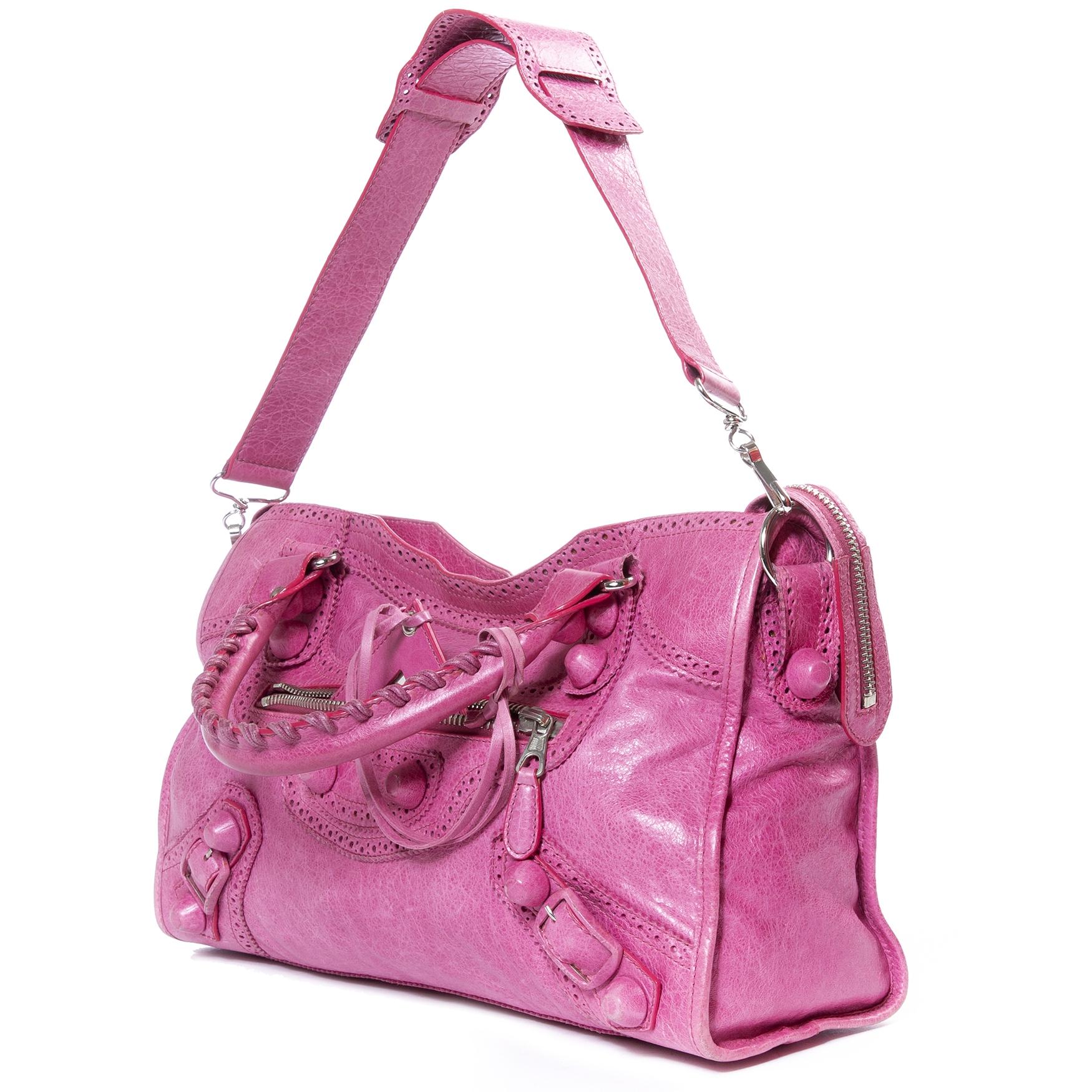 Balenciaga Rose Giant City Bag te koop bij Labellov tweedehands in Antwerpen