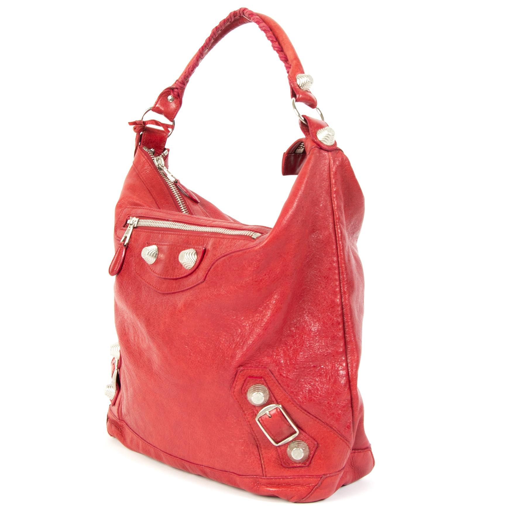 Balenciaga Red Hobo Dag Bag