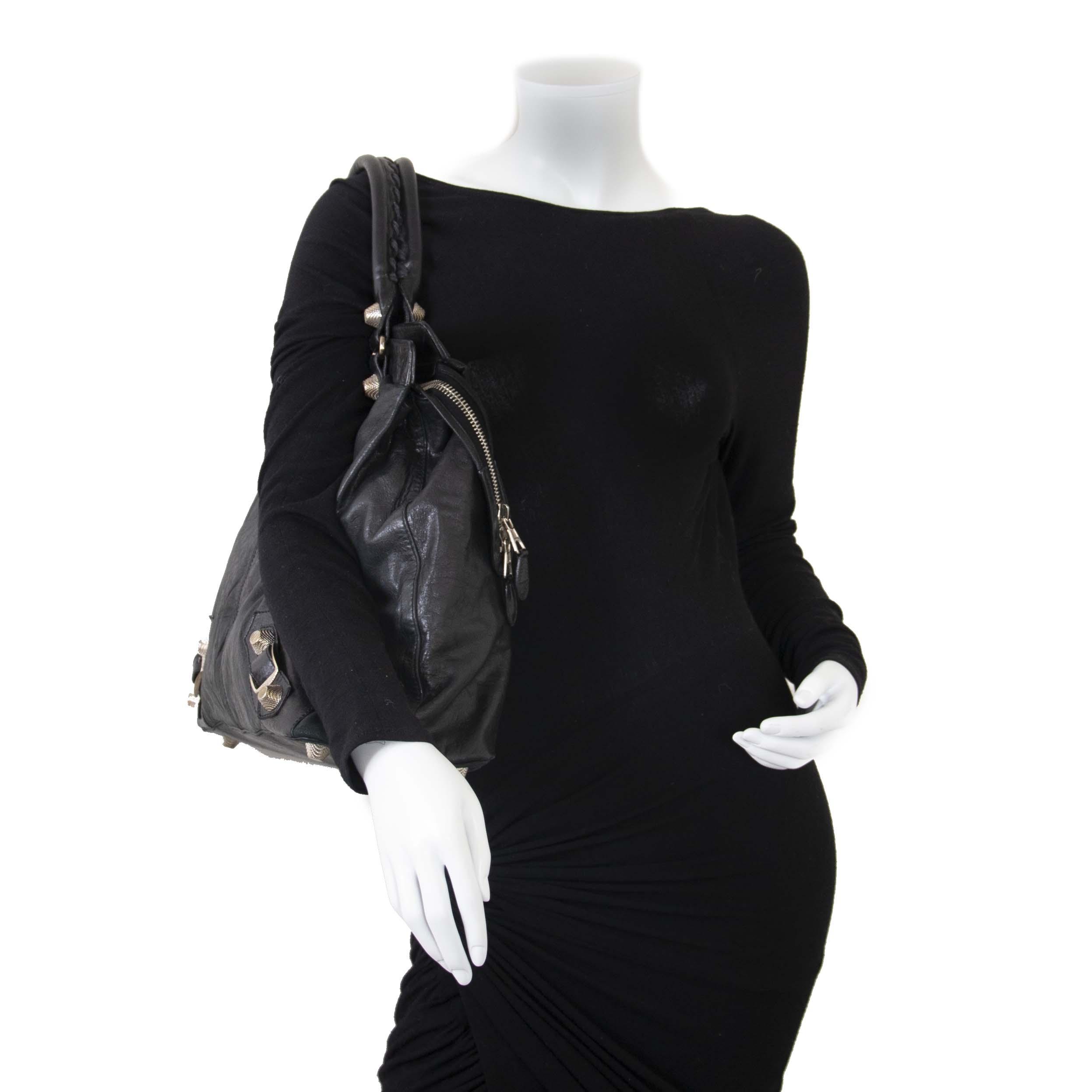 Balenciaga Black Leather RTT Shopper Bag