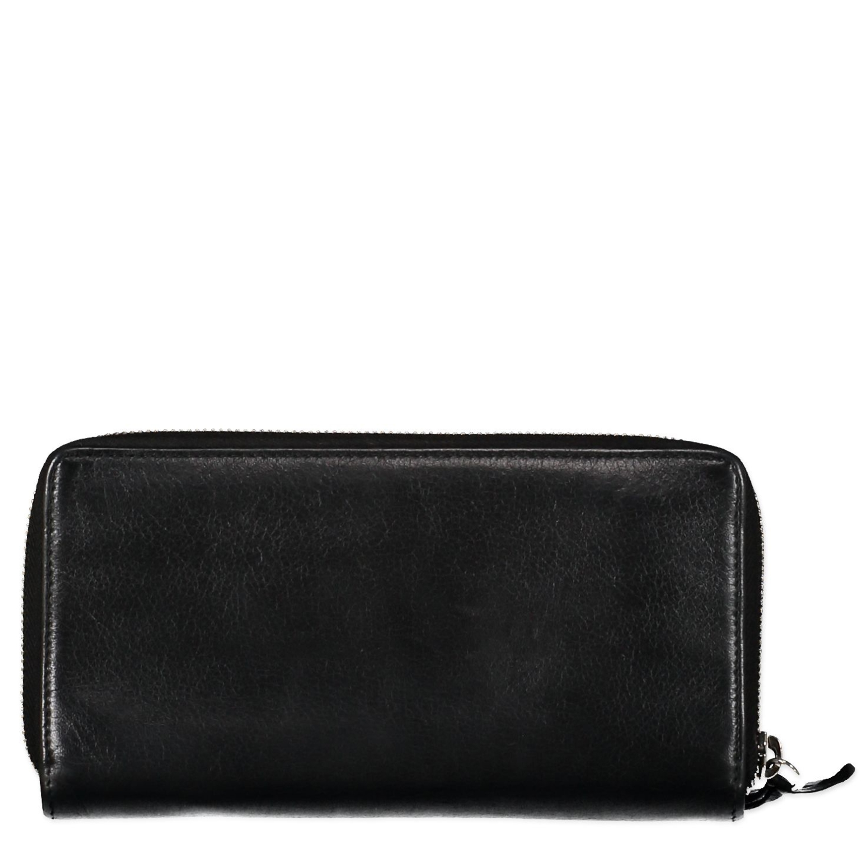 Balenciaga Black Continental Zip Around Wallet