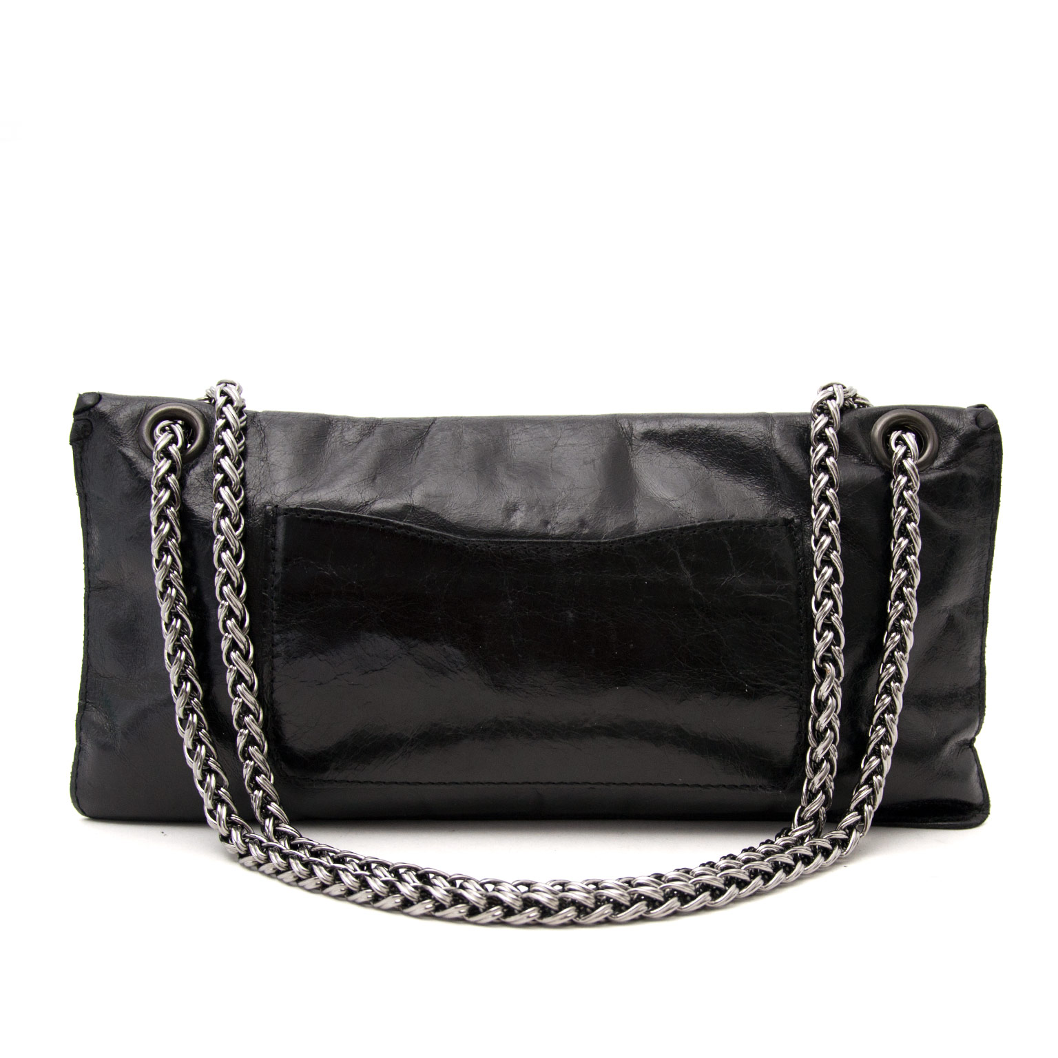 We buy and sell your secondhand luxury handbags such as  Balmain Black Leather Shoulder Bag