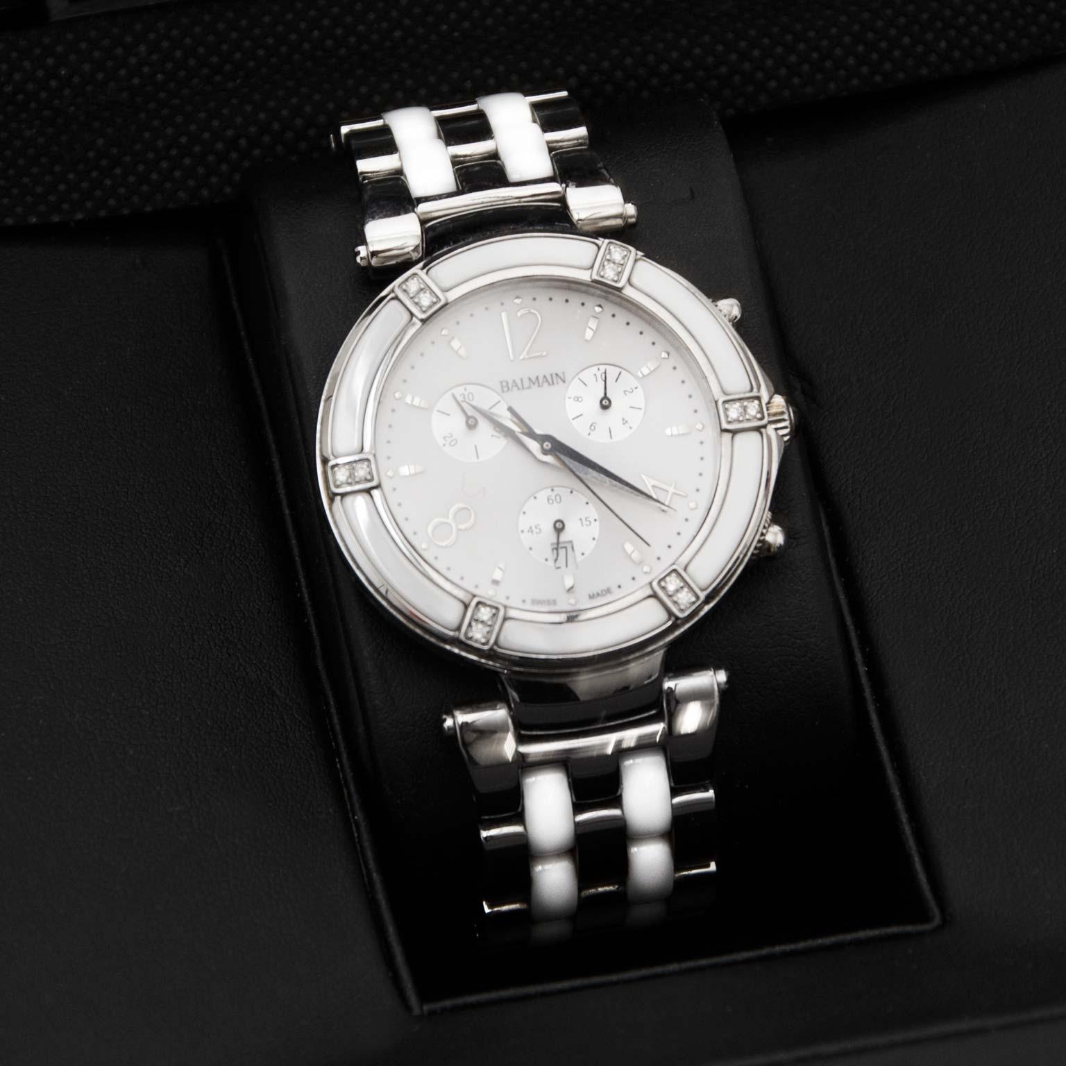 op zoek naar een Balmain Balceram Chrono Lady Horloge B7036.33.24? Koop uw horloge nu tegen de beste prijs bij labellov.com