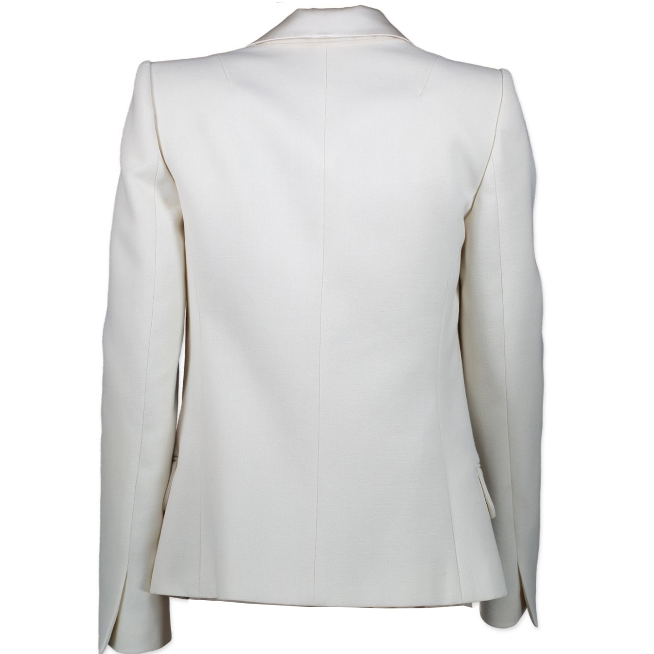 Balmain White Wool Lapel Blazer - size 34 (