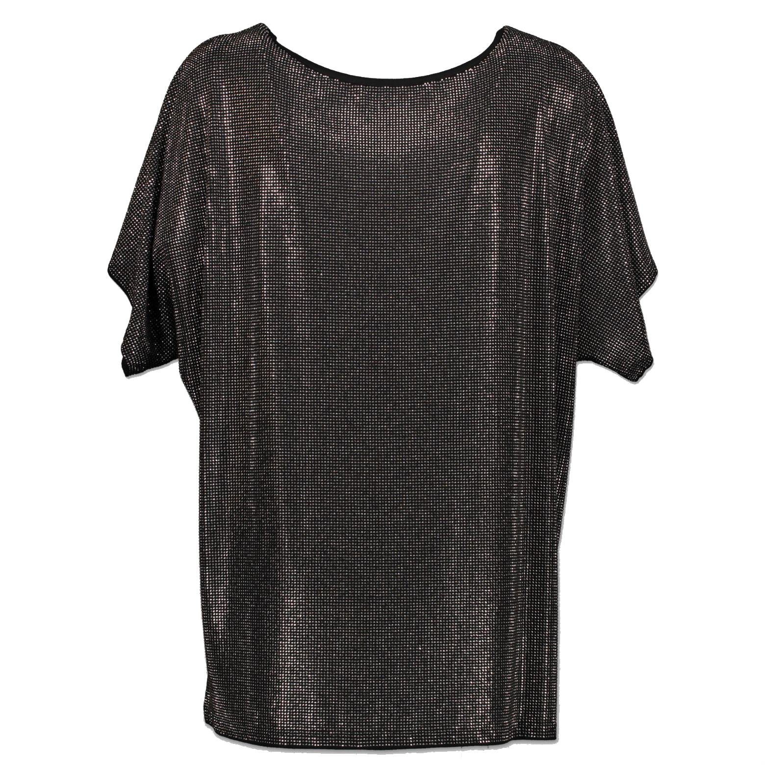 Pierre Balmain Black Metallic Stud T-Shirt