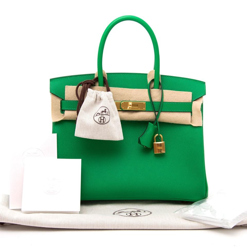 dc30126505d ... acheter en ligne comme neuf sac a main Brand New Hermes Birkin 30  Bambou Epsom GHW
