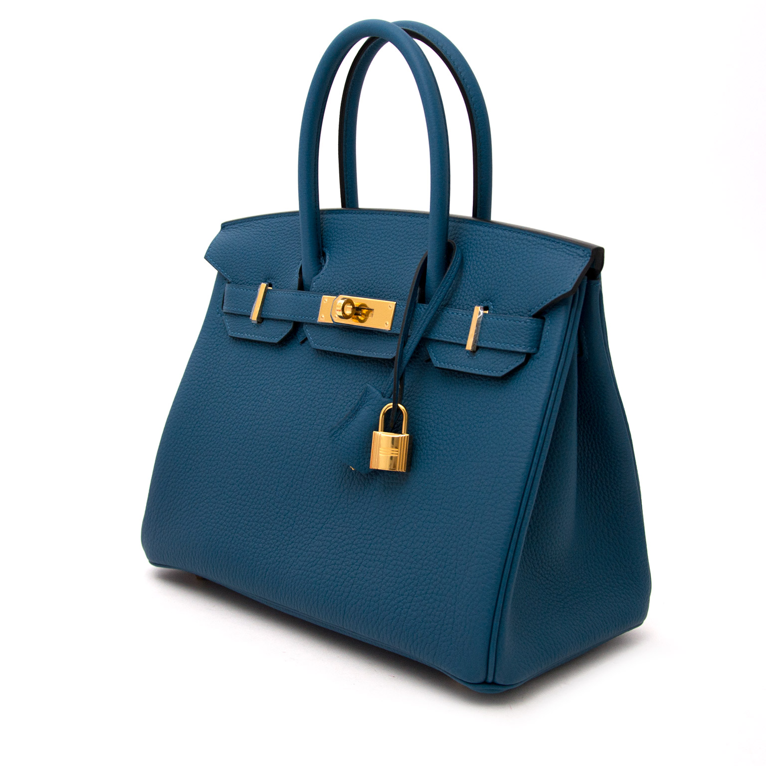 Buy and sell your designer handbags for the best price at labellov.co Hermes Birkin 30 Cobalt GHW now online