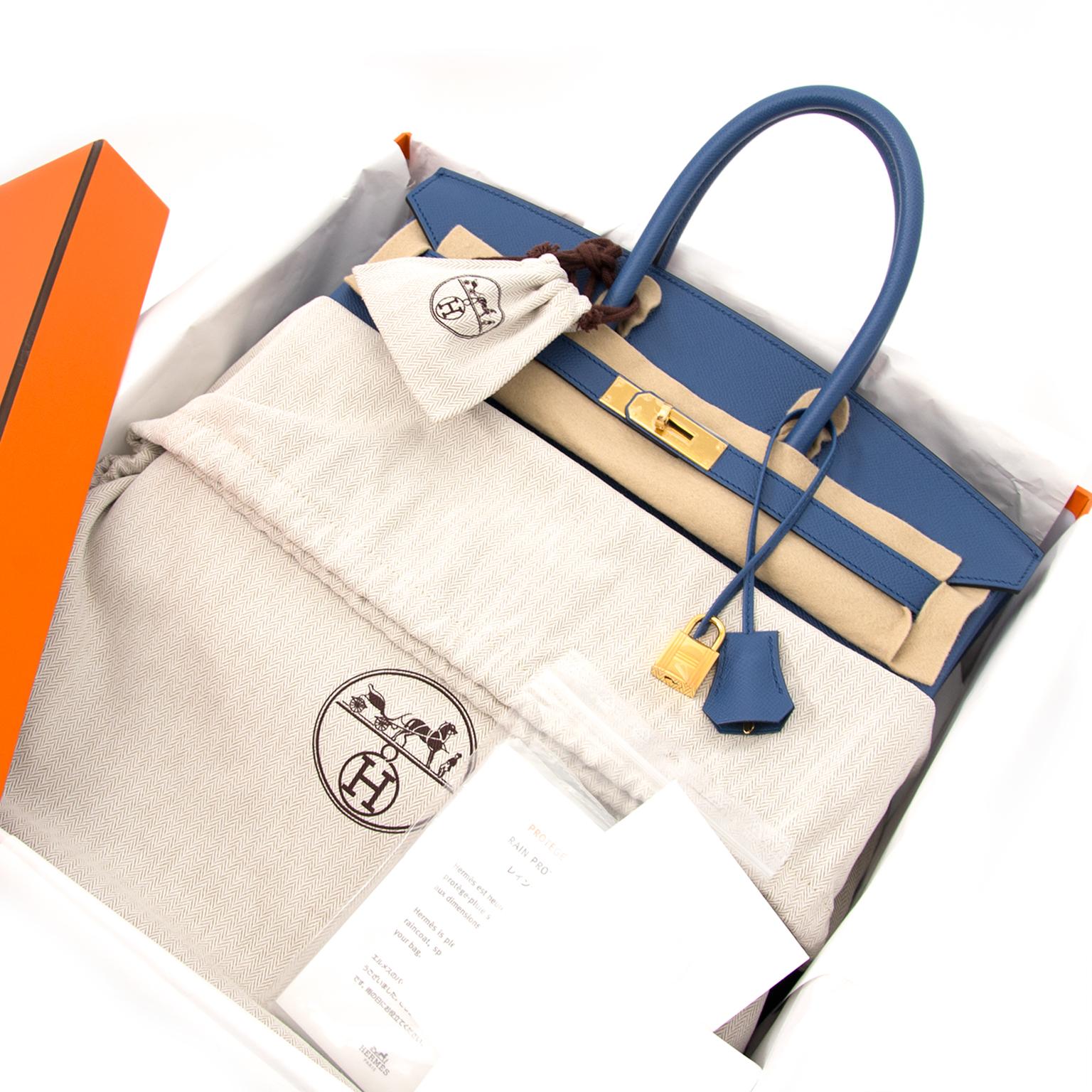 buy safe and secure online at labellov.com hermes birkin 35 bleu agathe ghw