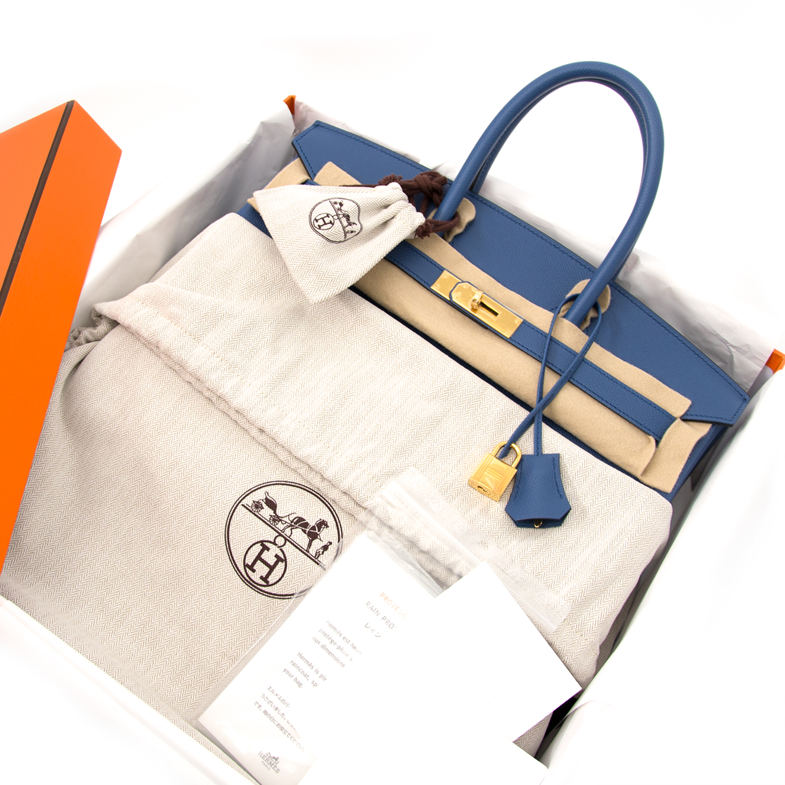 buy safe and secure online at labellov.com hermes birkin 35 bleu agathe ghw