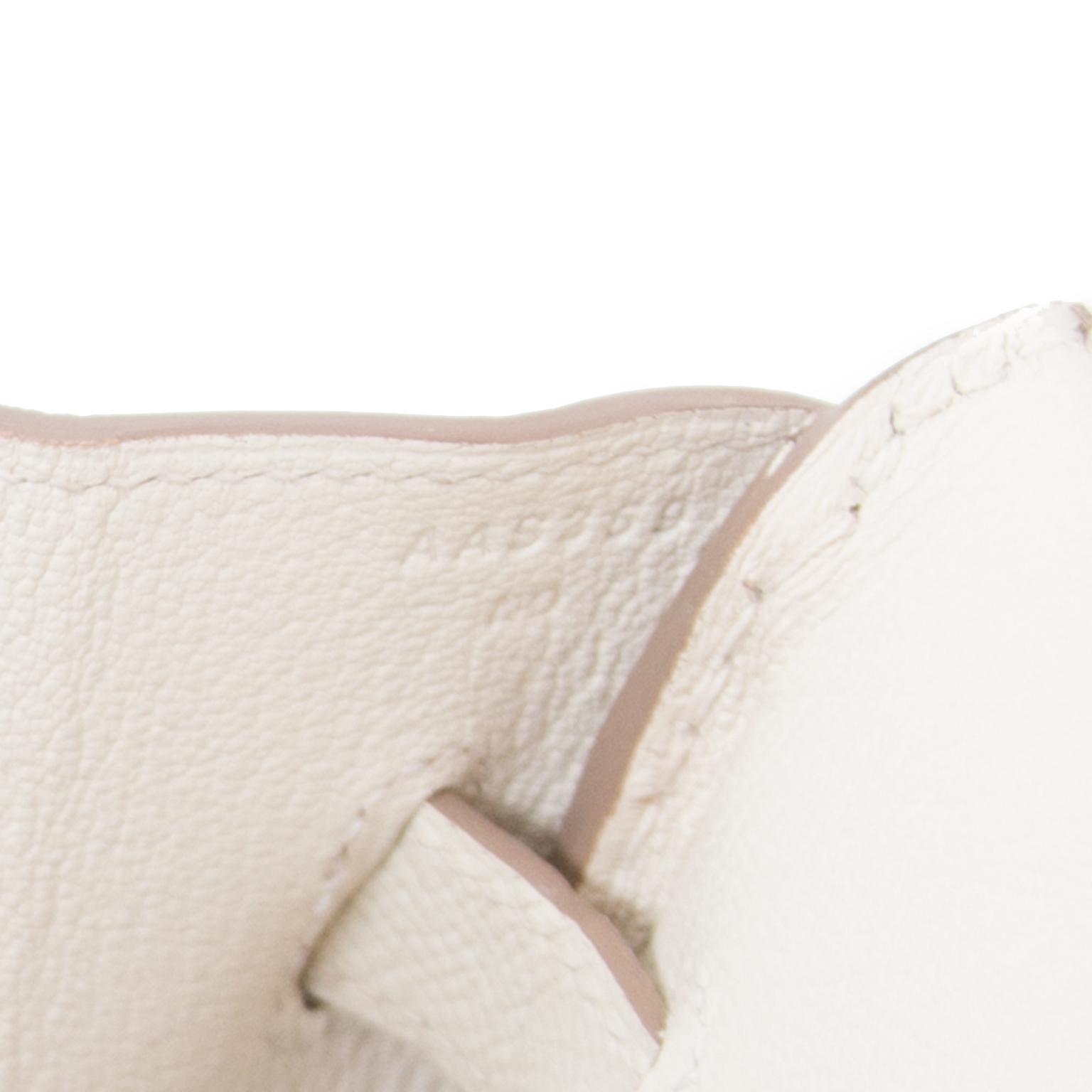 koop veilig online aan de beste prijs Brand New Hermes Birkin 35 Craie Epsom PHW