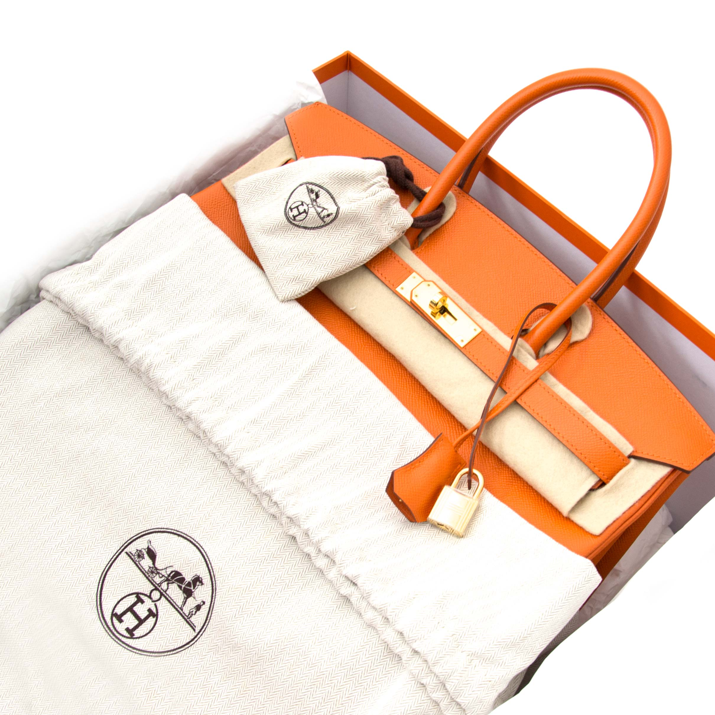skip the waitinglist and get your hermes birkin orange epsom ghw right now at labellov.com, wordwide shipping