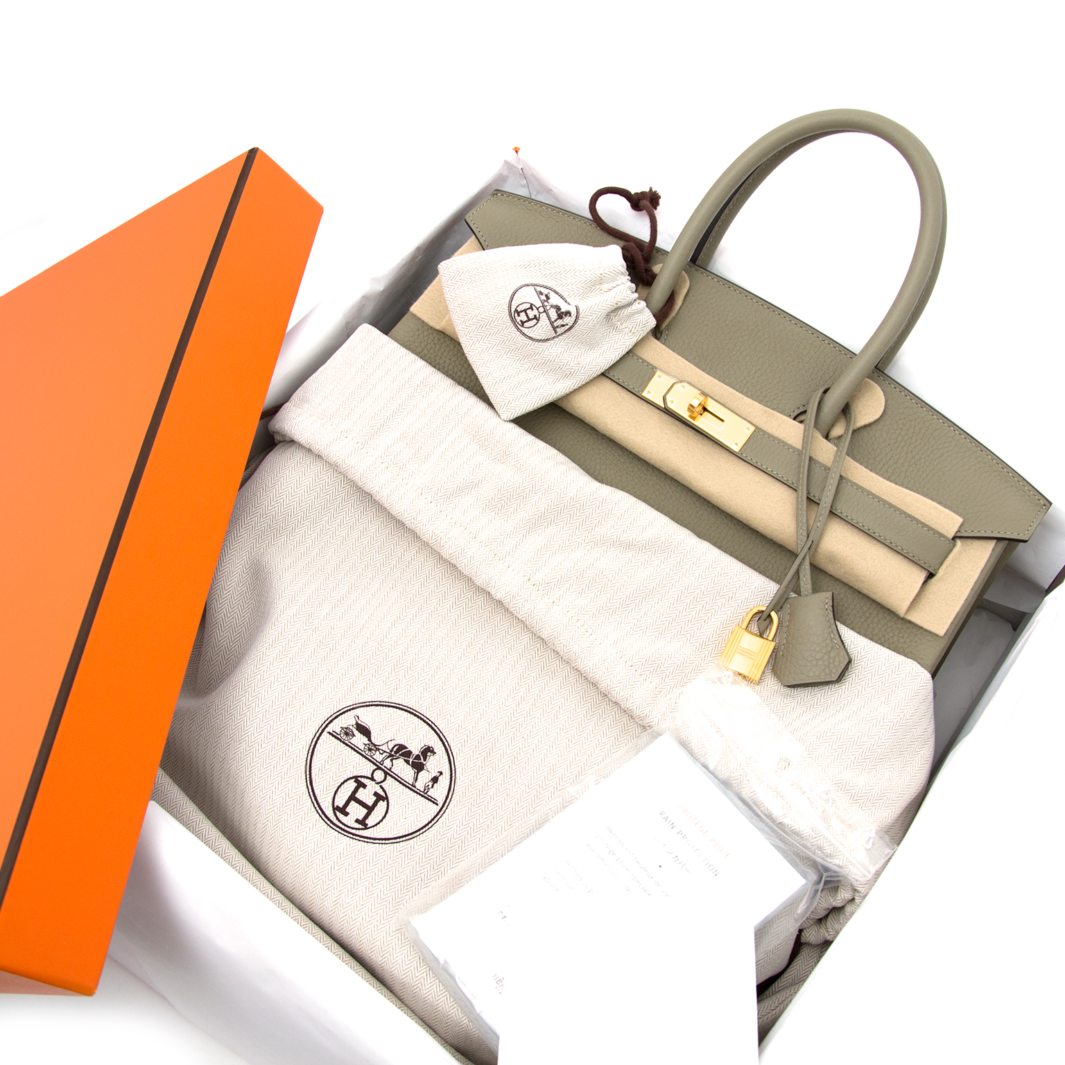 Buy and sell your hermes birkin 35 taurillon clemence sauge at labellov.com